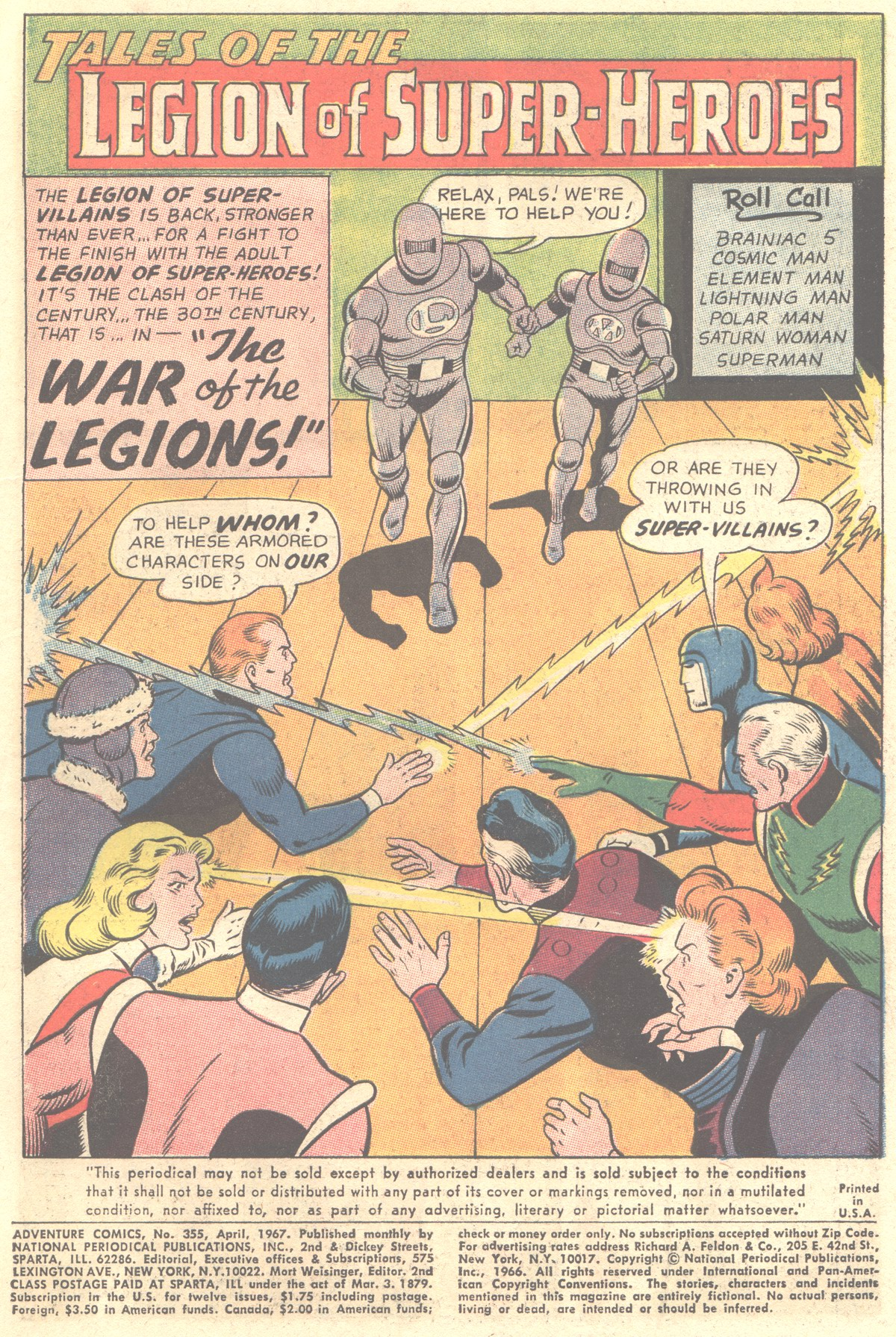 Read online Adventure Comics (1938) comic -  Issue #355 - 3
