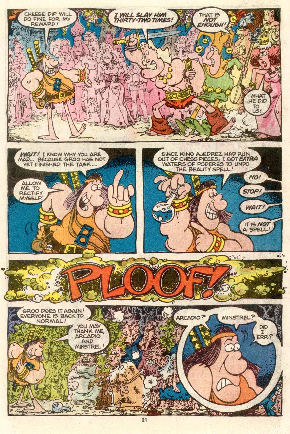 Read online Sergio Aragonés Groo the Wanderer comic -  Issue #24 - 23