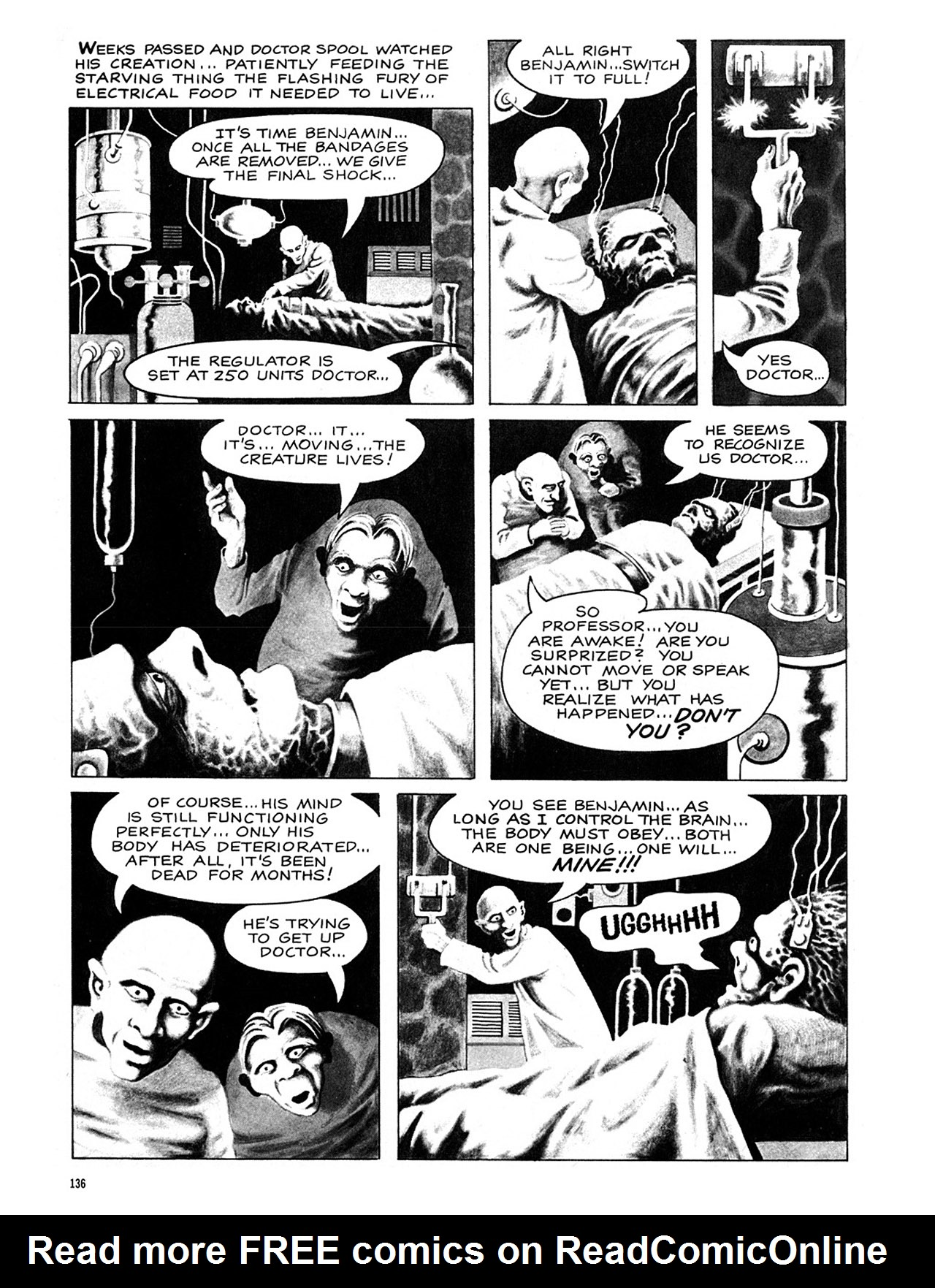 Read online Eerie Archives comic -  Issue # TPB 4 - 137
