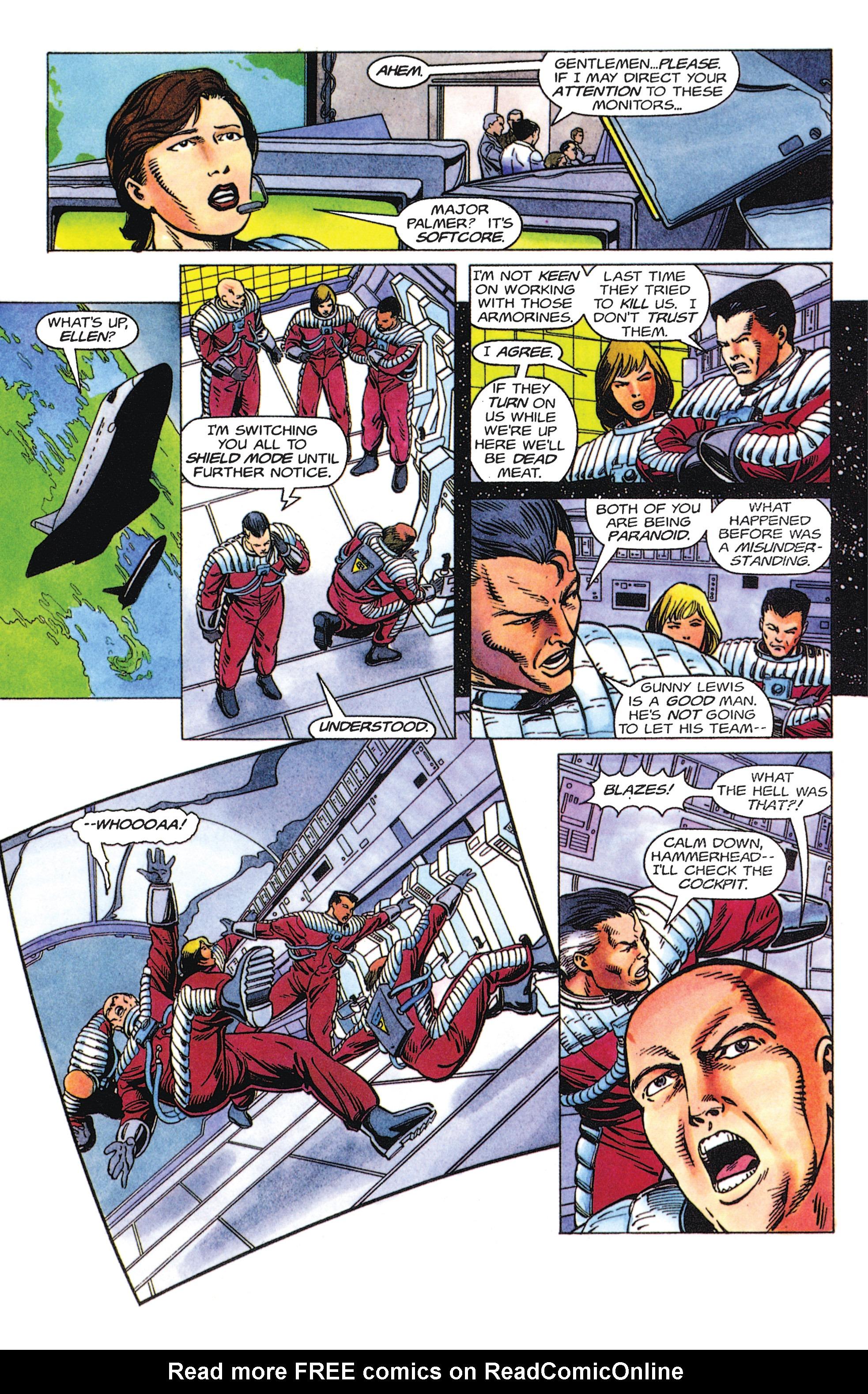 Read online Armorines comic -  Issue #5 - 6