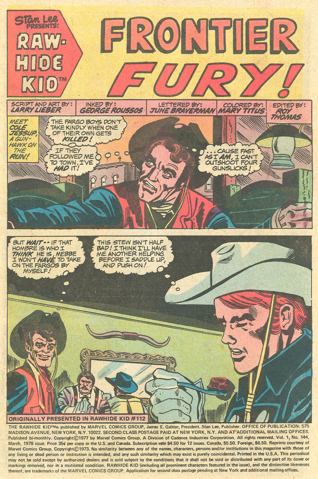 The Rawhide Kid (1955) issue 144 - Page 3