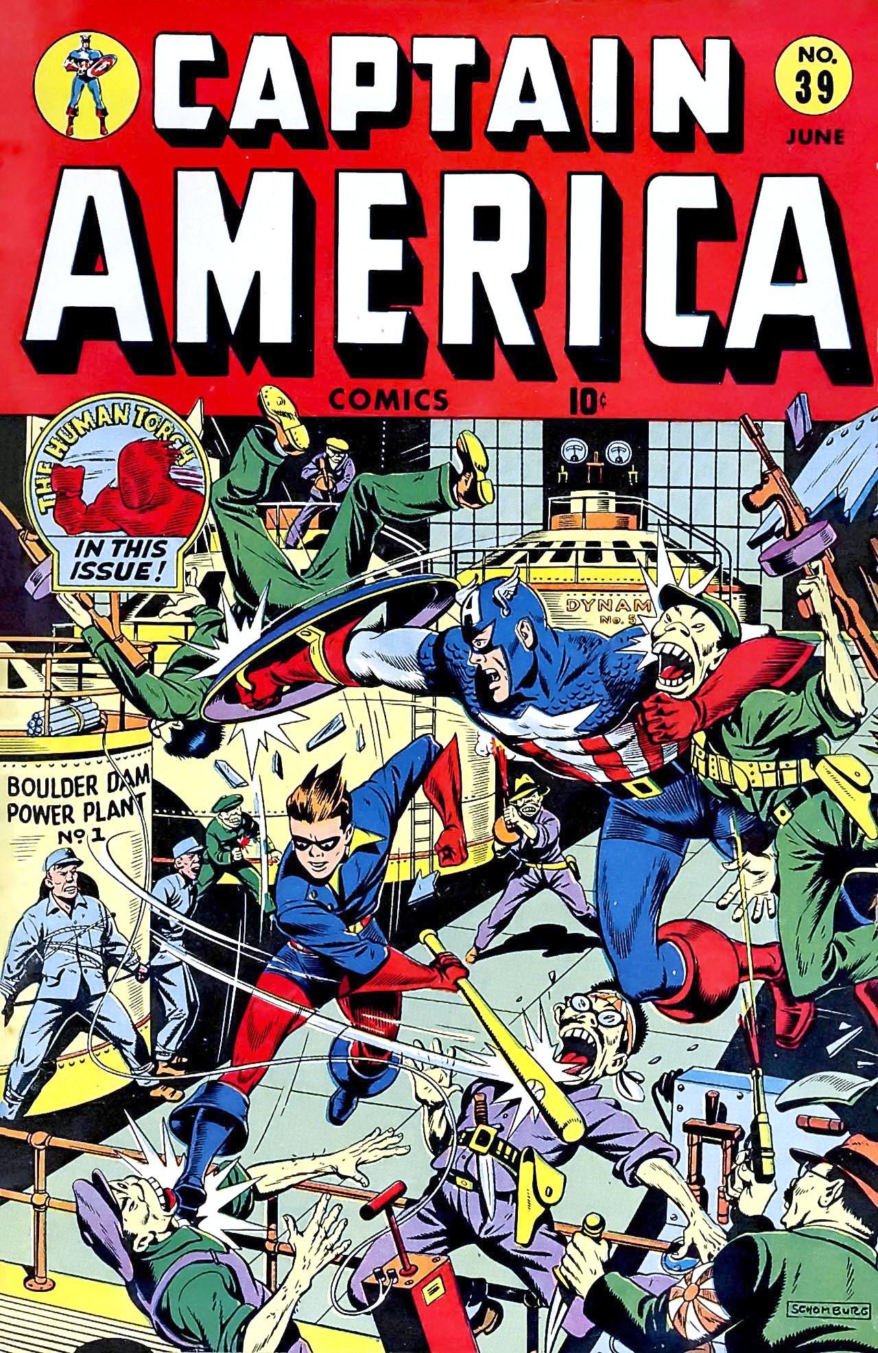 Captain America Comics 39 Page 1