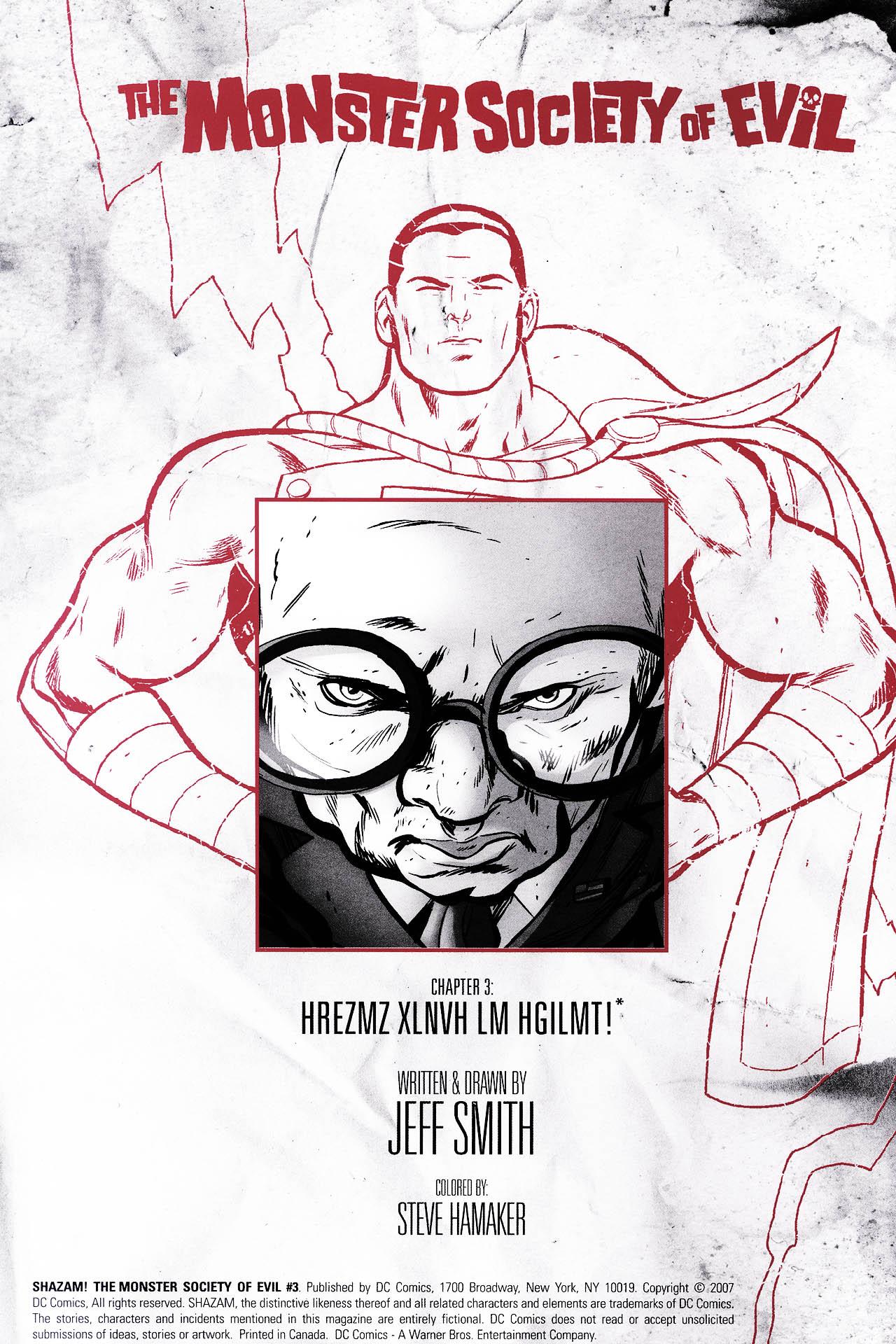 Read online Shazam!: The Monster Society of Evil comic -  Issue #3 - 2