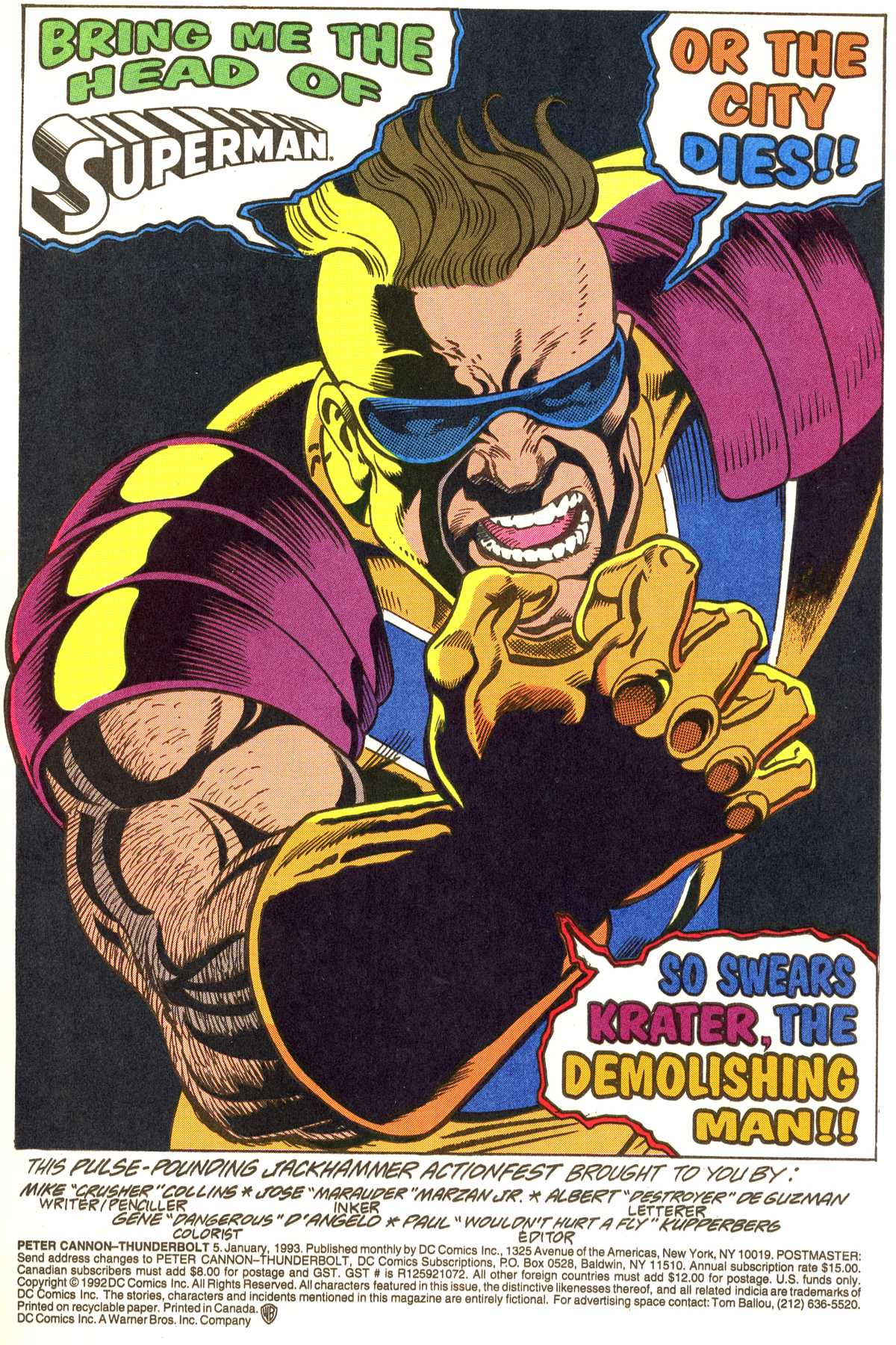 Read online Peter Cannon--Thunderbolt (1992) comic -  Issue #5 - 2