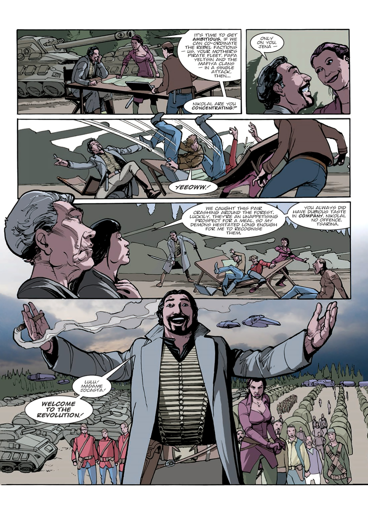 Read online Nikolai Dante comic -  Issue # TPB 9 - 132