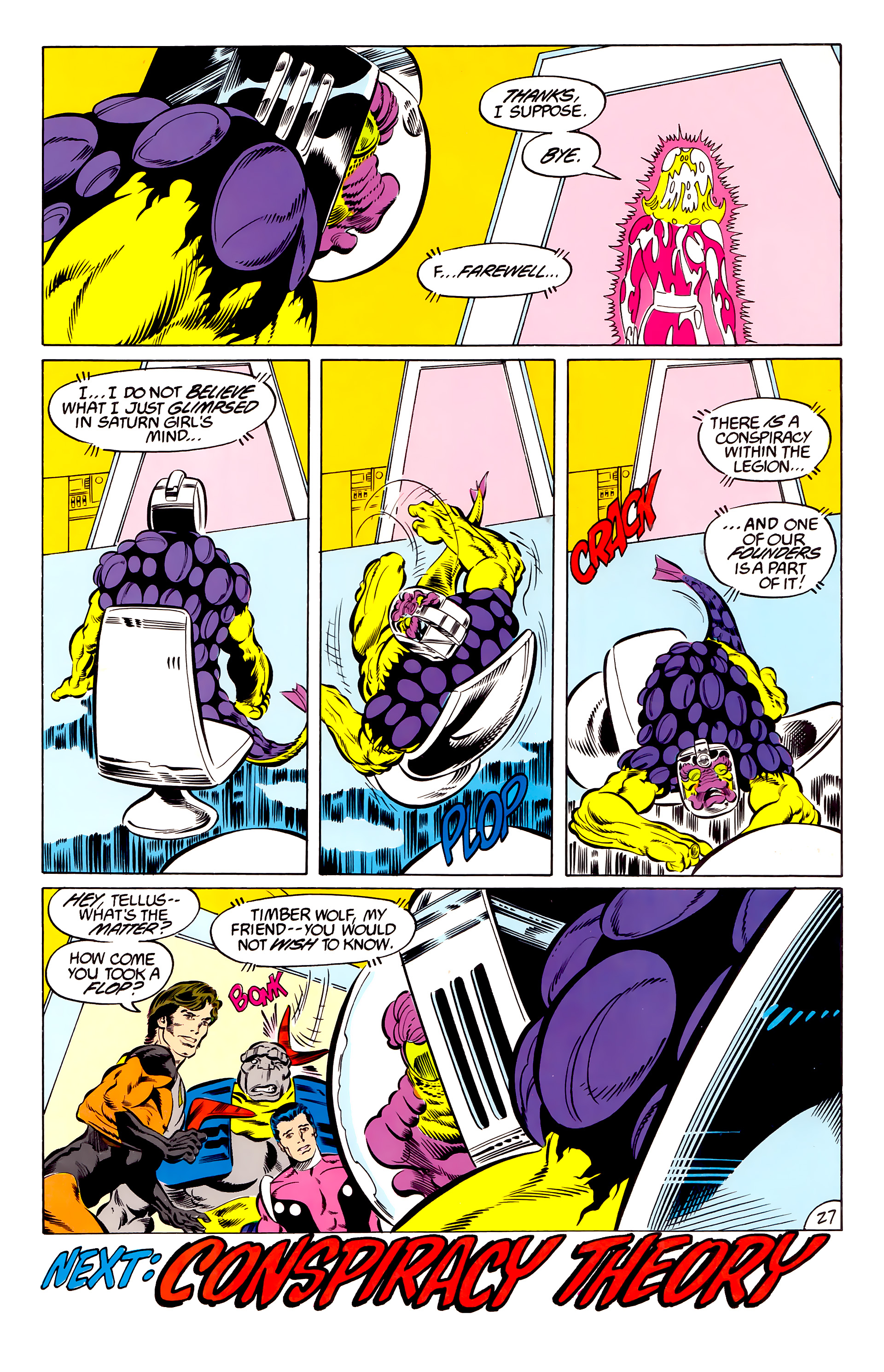 Legion of Super-Heroes (1984) 46 Page 27
