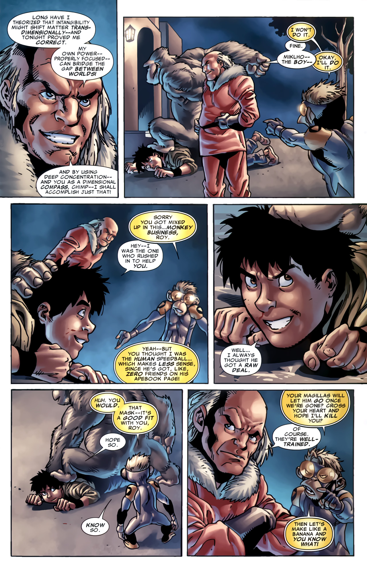 Read online Marvel Apes: Speedball Special comic -  Issue # Full - 31