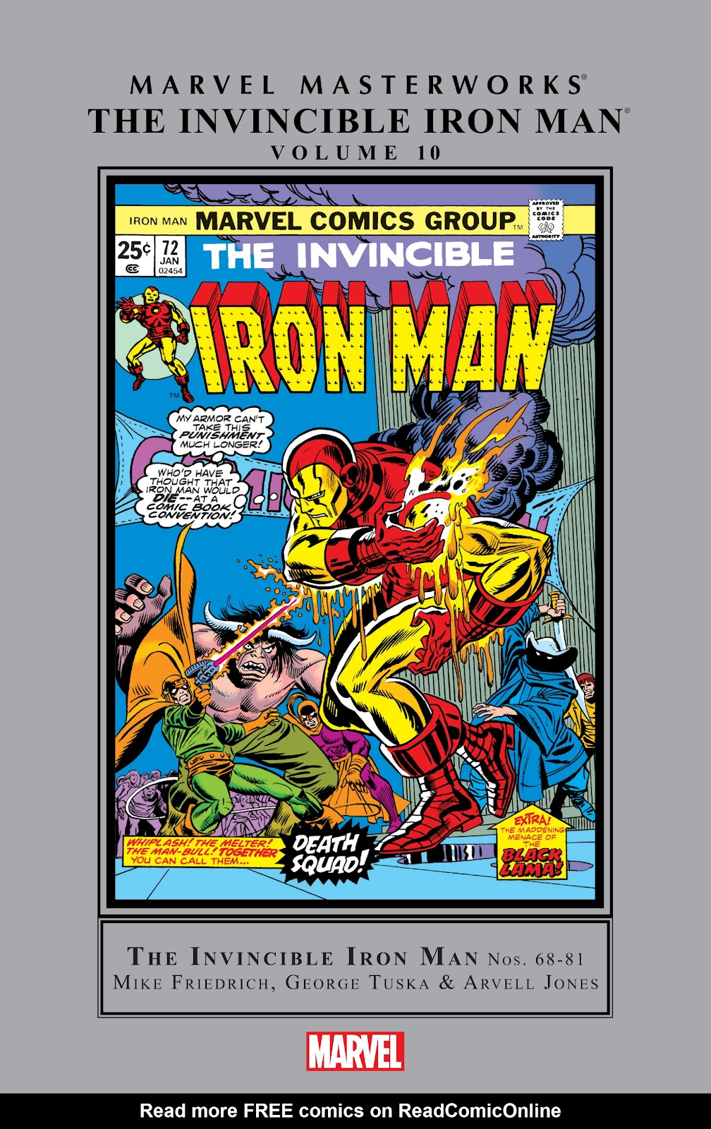 Read online Marvel Masterworks: The Invincible Iron Man comic -  Issue # TPB 10 (Part 1) - 1