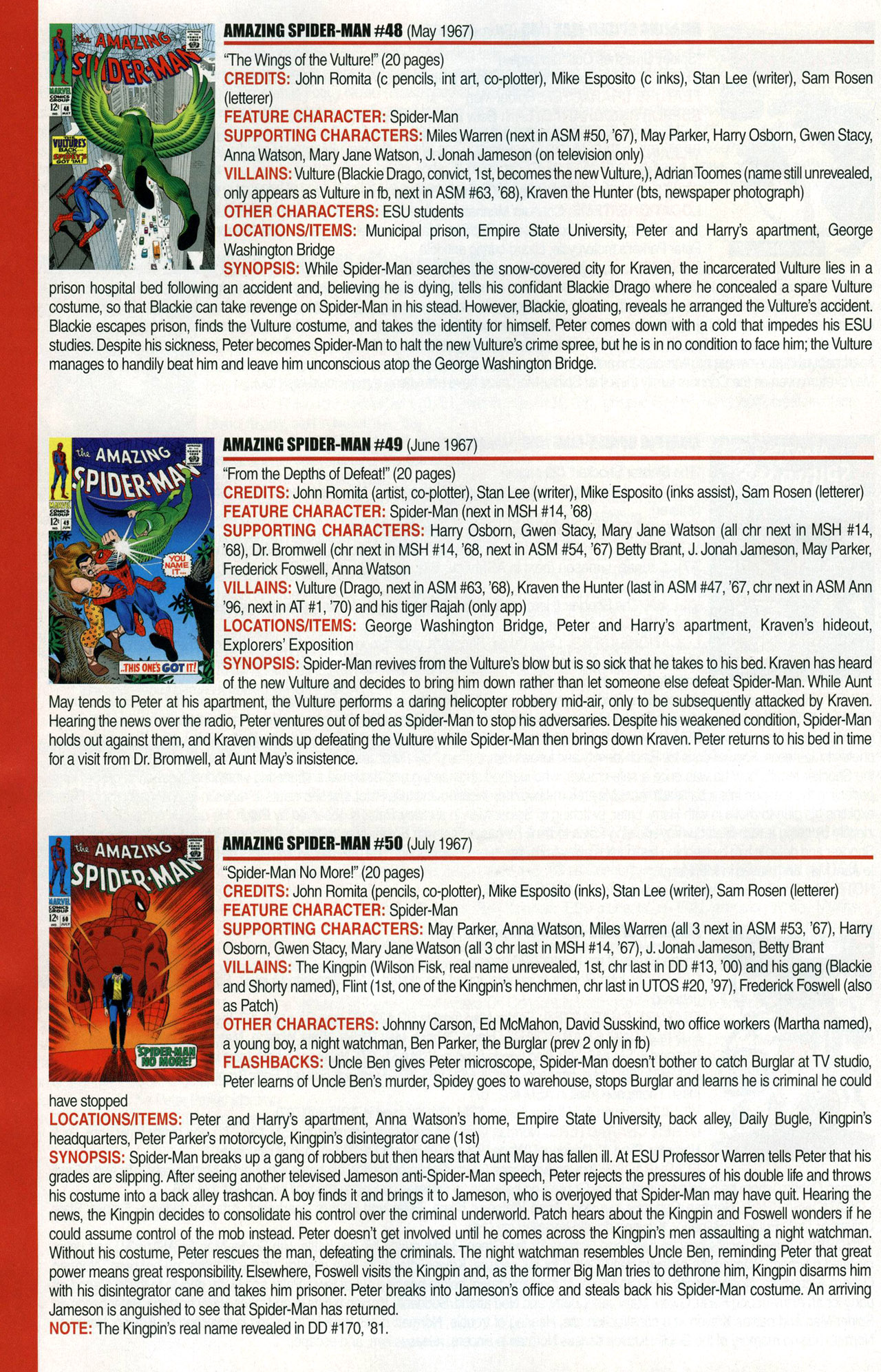 Read online Official Index to the Marvel Universe comic -  Issue #1 - 22
