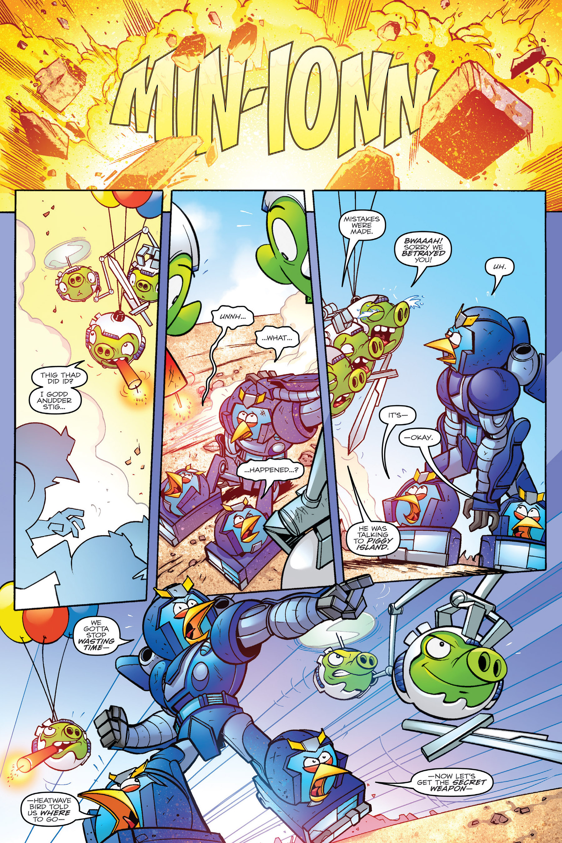 Read online Angry Birds Transformers: Age of Eggstinction comic -  Issue # Full - 80