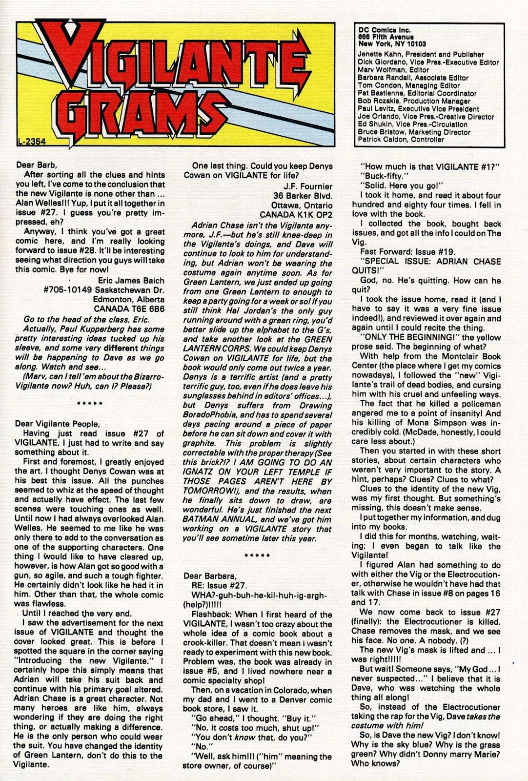Vigilante (1983) issue 31 - Page 31