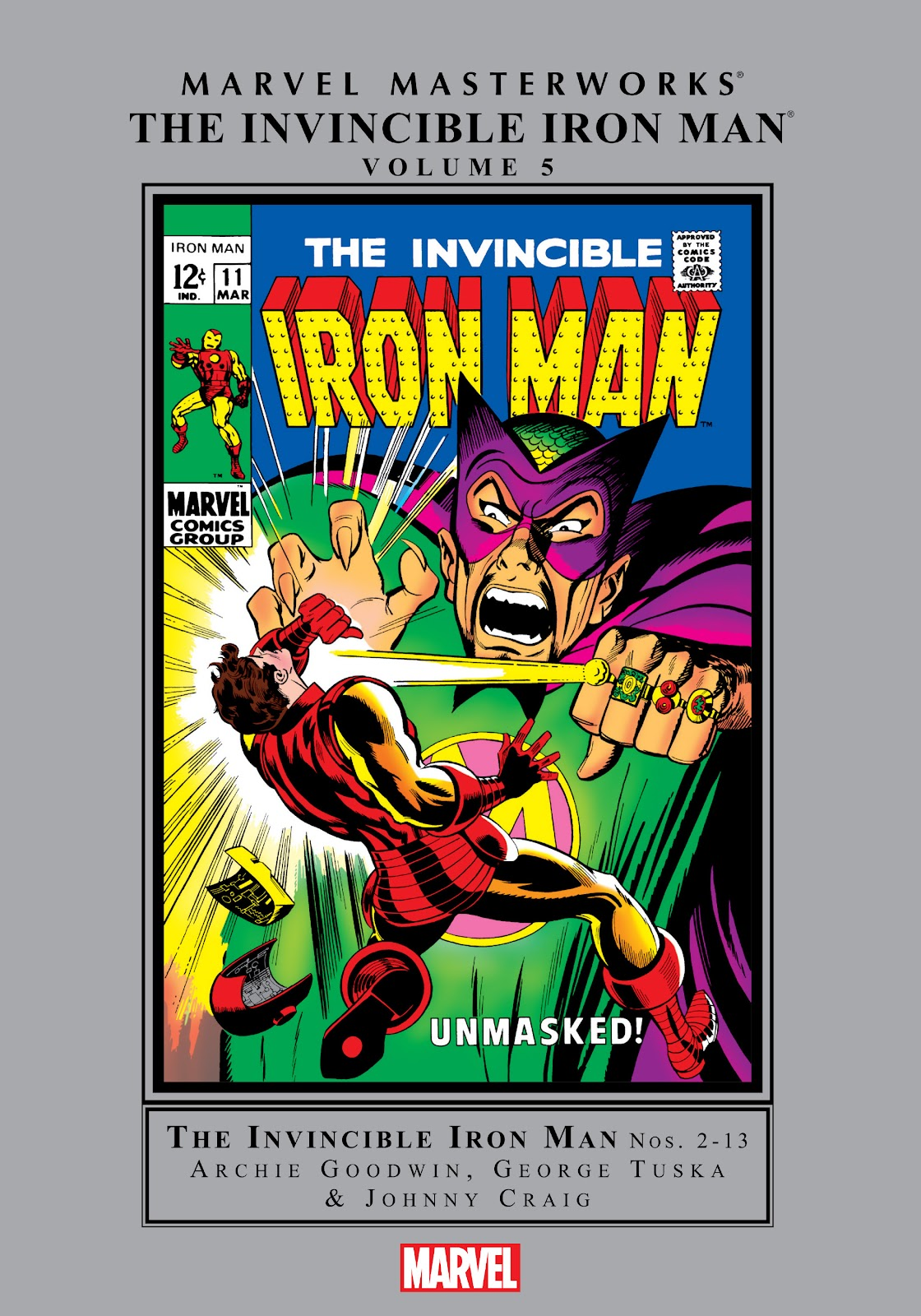Read online Marvel Masterworks: The Invincible Iron Man comic -  Issue # TPB 5 (Part 1) - 1