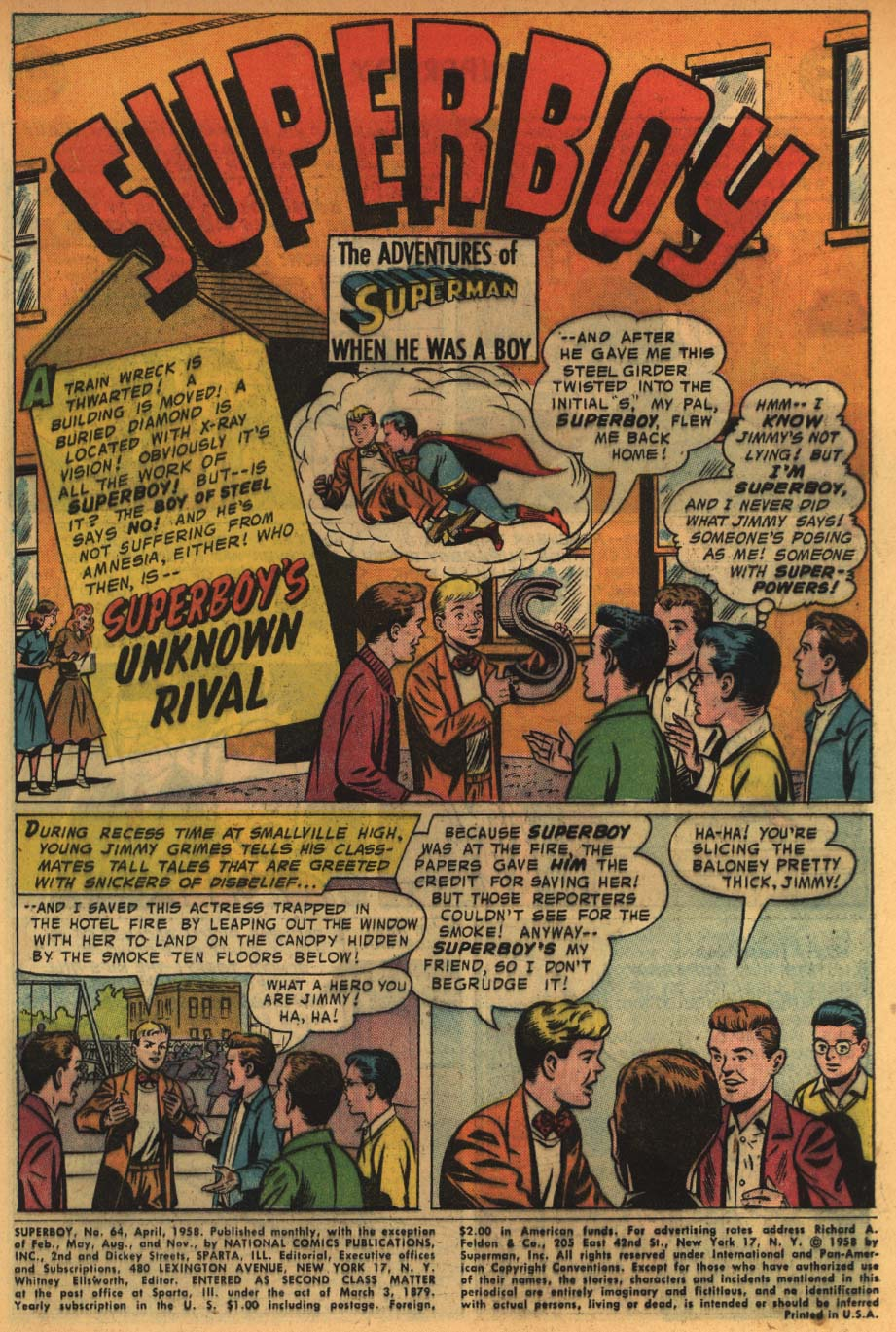 Superboy (1949) issue 64 - Page 2