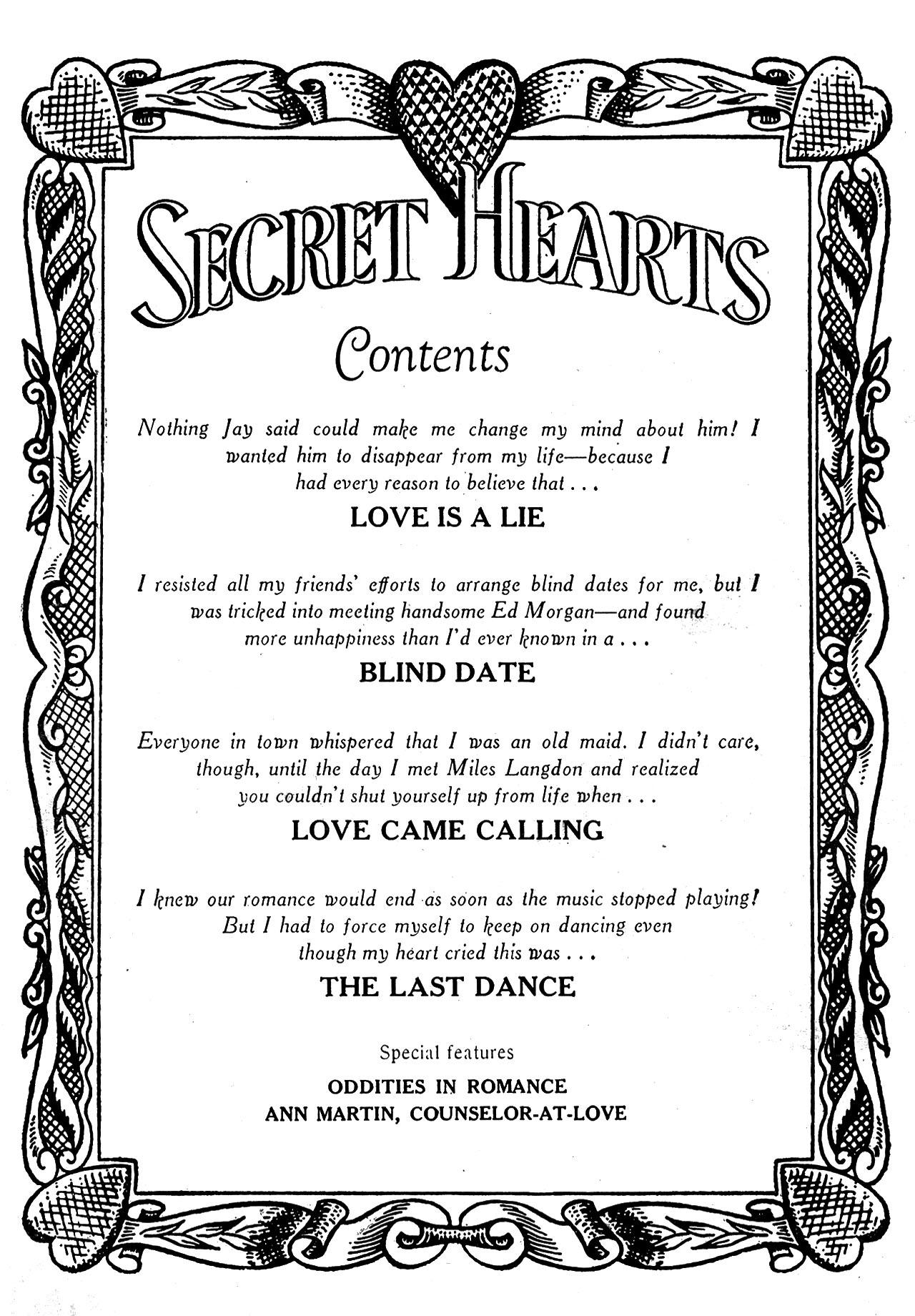 Read online Secret Hearts comic -  Issue #24 - 2