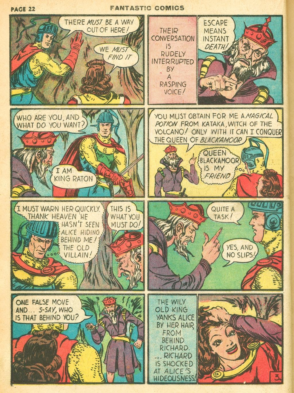 Read online Fantastic Comics comic -  Issue #12 - 24