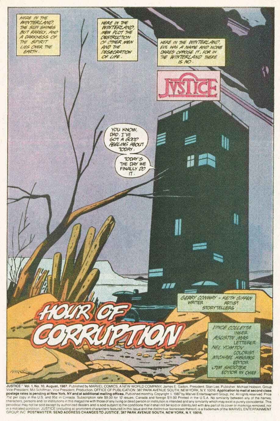 Read online Justice (1986) comic -  Issue #10 - 2