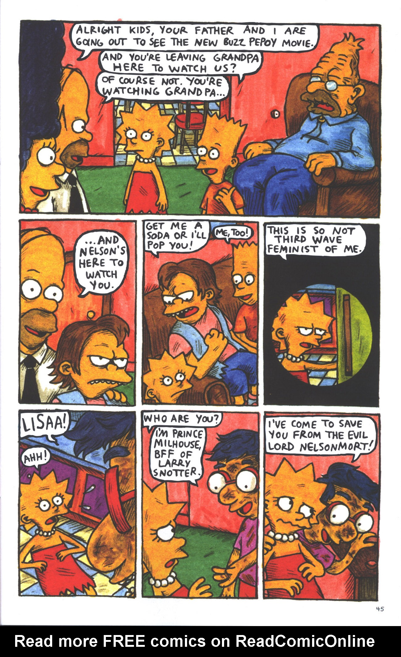 Read online Treehouse of Horror comic -  Issue #15 - 48