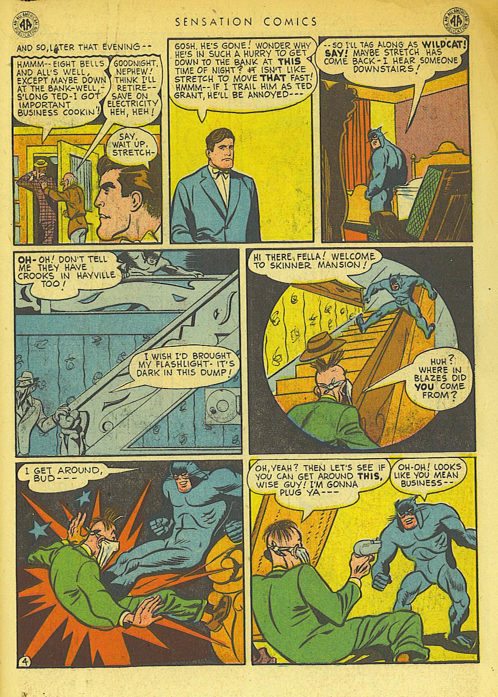 Read online Sensation (Mystery) Comics comic -  Issue #42 - 45