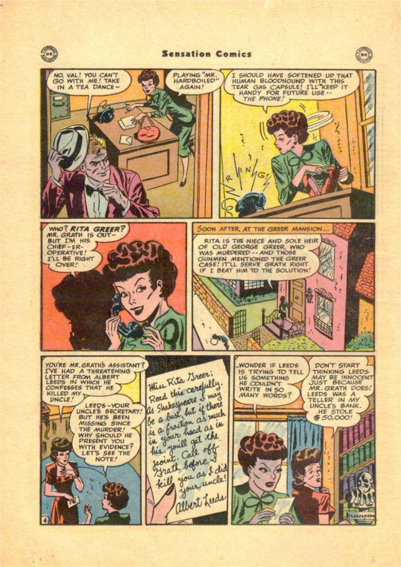 Read online Sensation (Mystery) Comics comic -  Issue #84 - 20