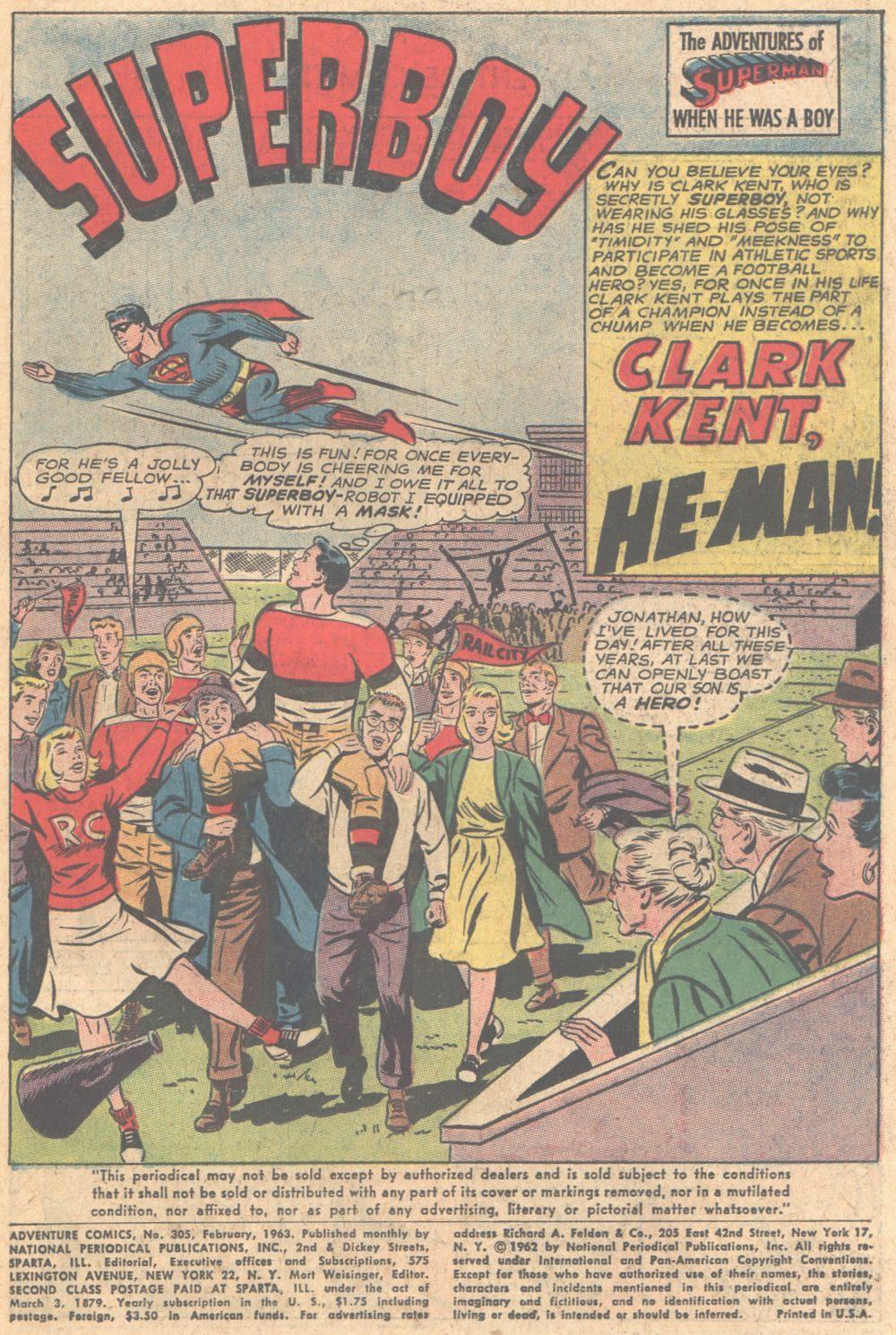 Read online Adventure Comics (1938) comic -  Issue #305 - 2