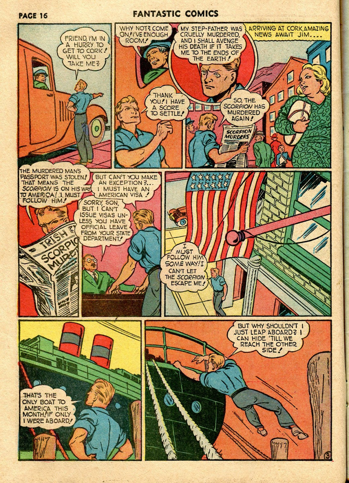 Read online Fantastic Comics comic -  Issue #21 - 18