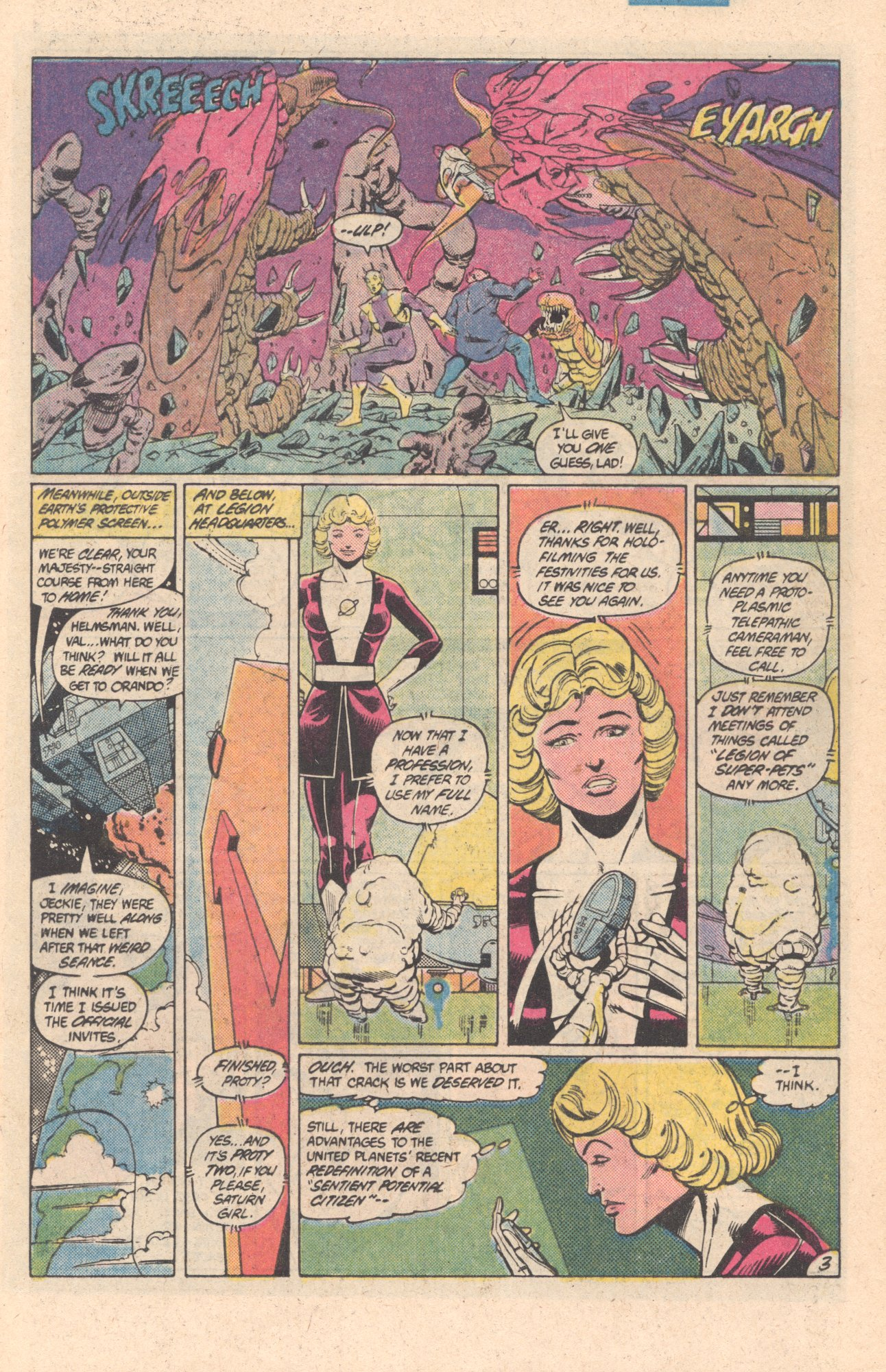 Legion of Super-Heroes (1980) 301 Page 3