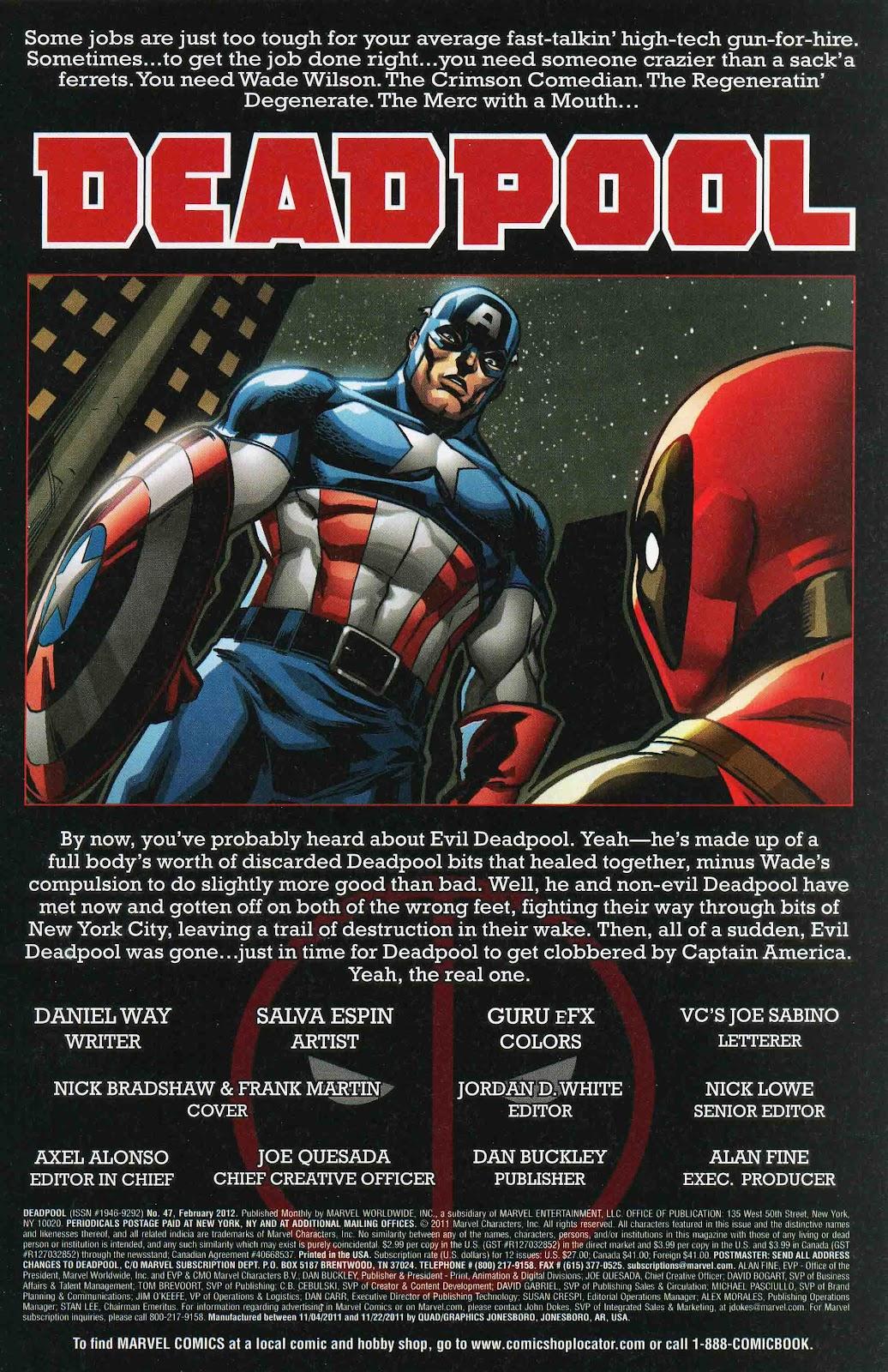 Read online Deadpool (2008) comic -  Issue #47 - 2