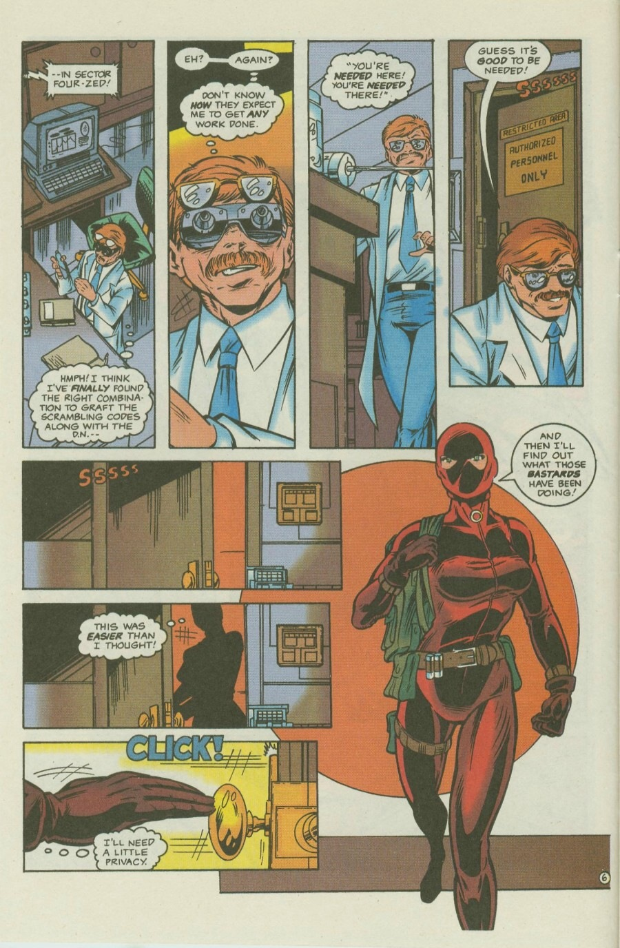 Read online Ex-Mutants comic -  Issue #8 - 8