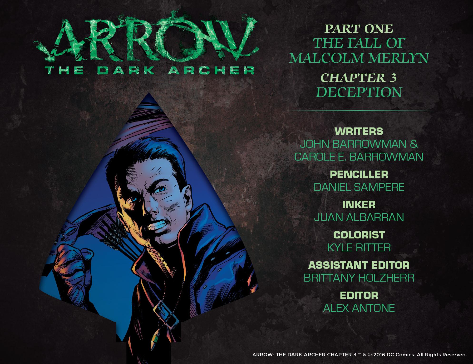 Read online Arrow: The Dark Archer comic -  Issue #3 - 2