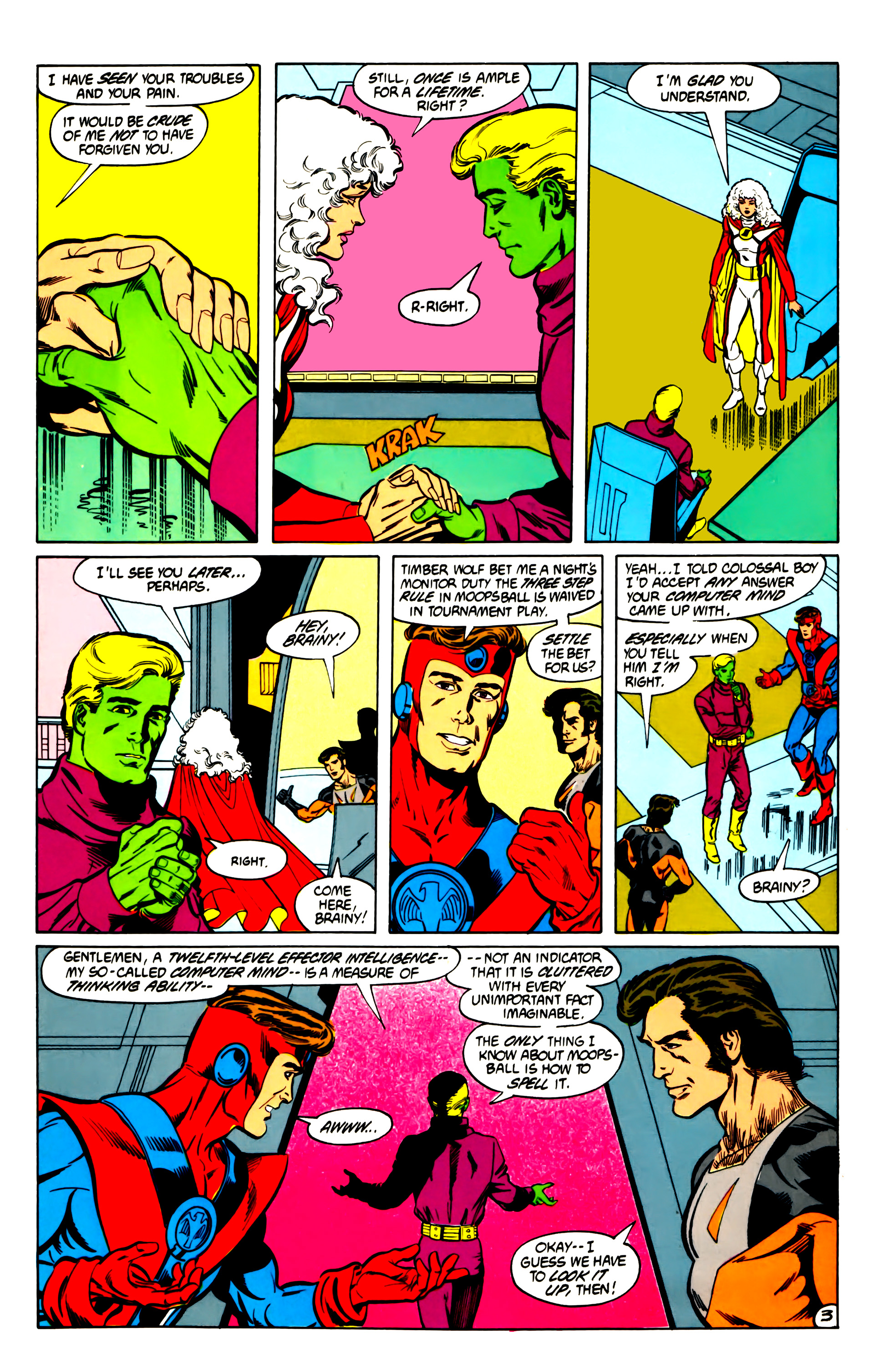 Legion of Super-Heroes (1984) 30 Page 3