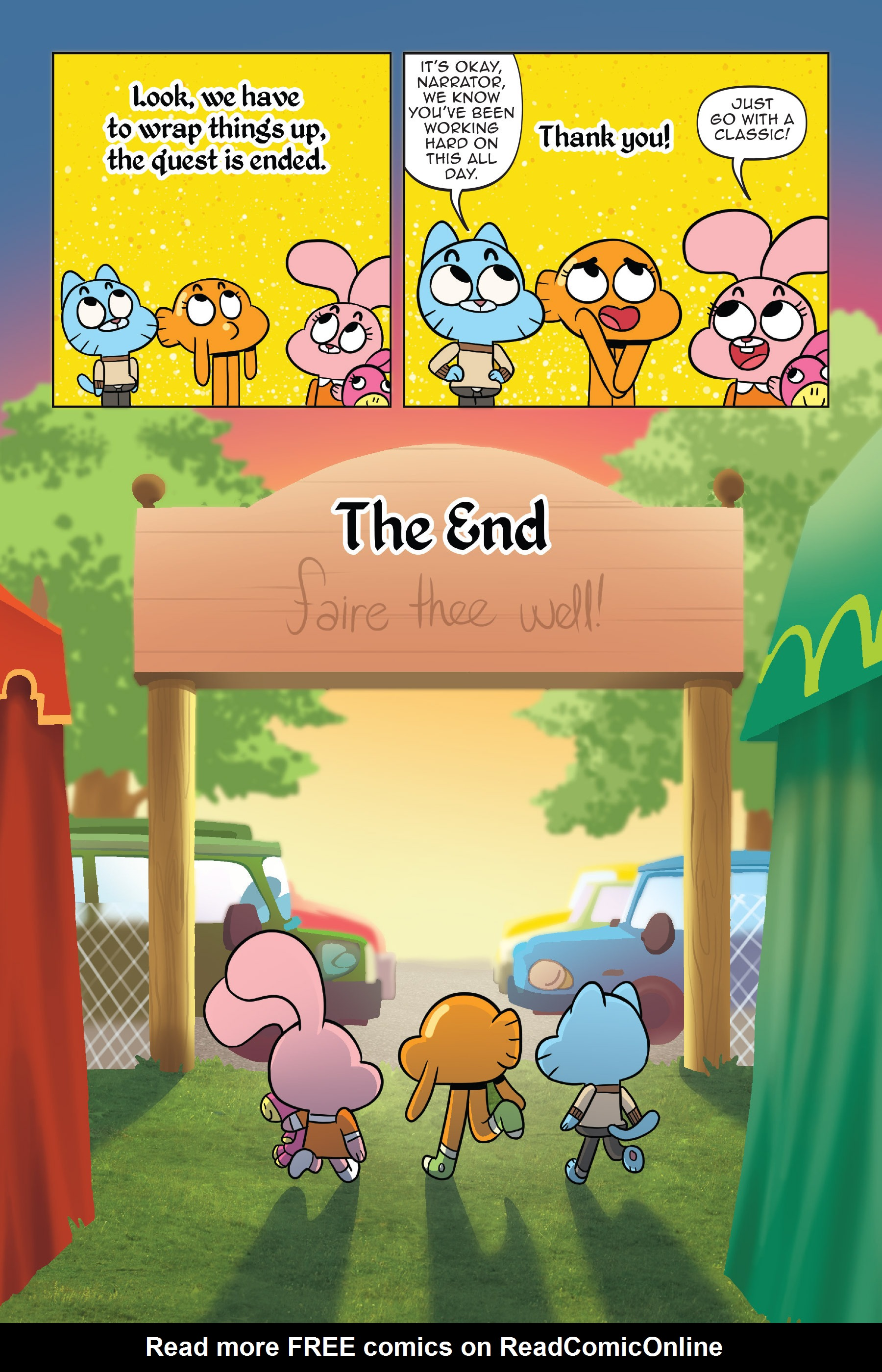 Read online The Amazing World of Gumball: Fairy Tale Trouble comic -  Issue # Full - 138