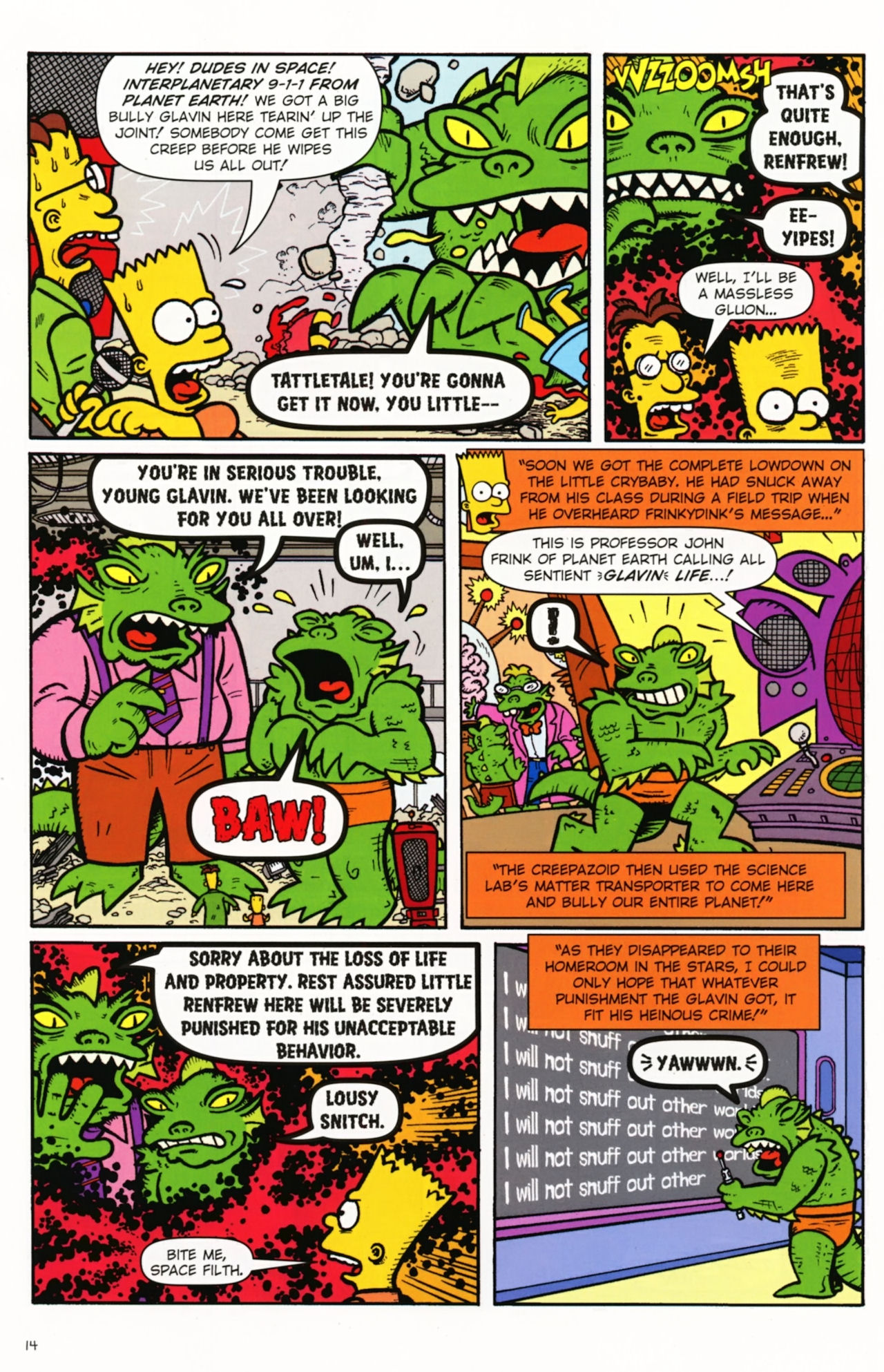 Read online Treehouse of Horror comic -  Issue #16 - 17
