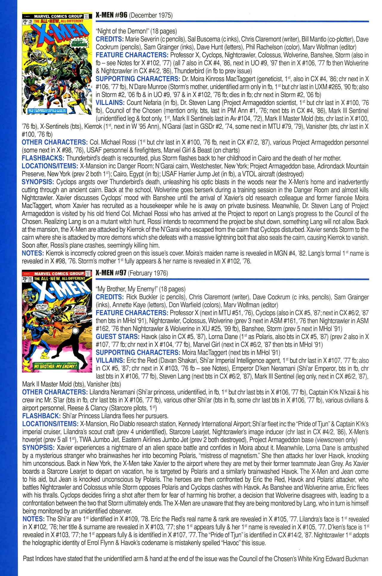 Read online Official Index to the Marvel Universe comic -  Issue #2 - 60