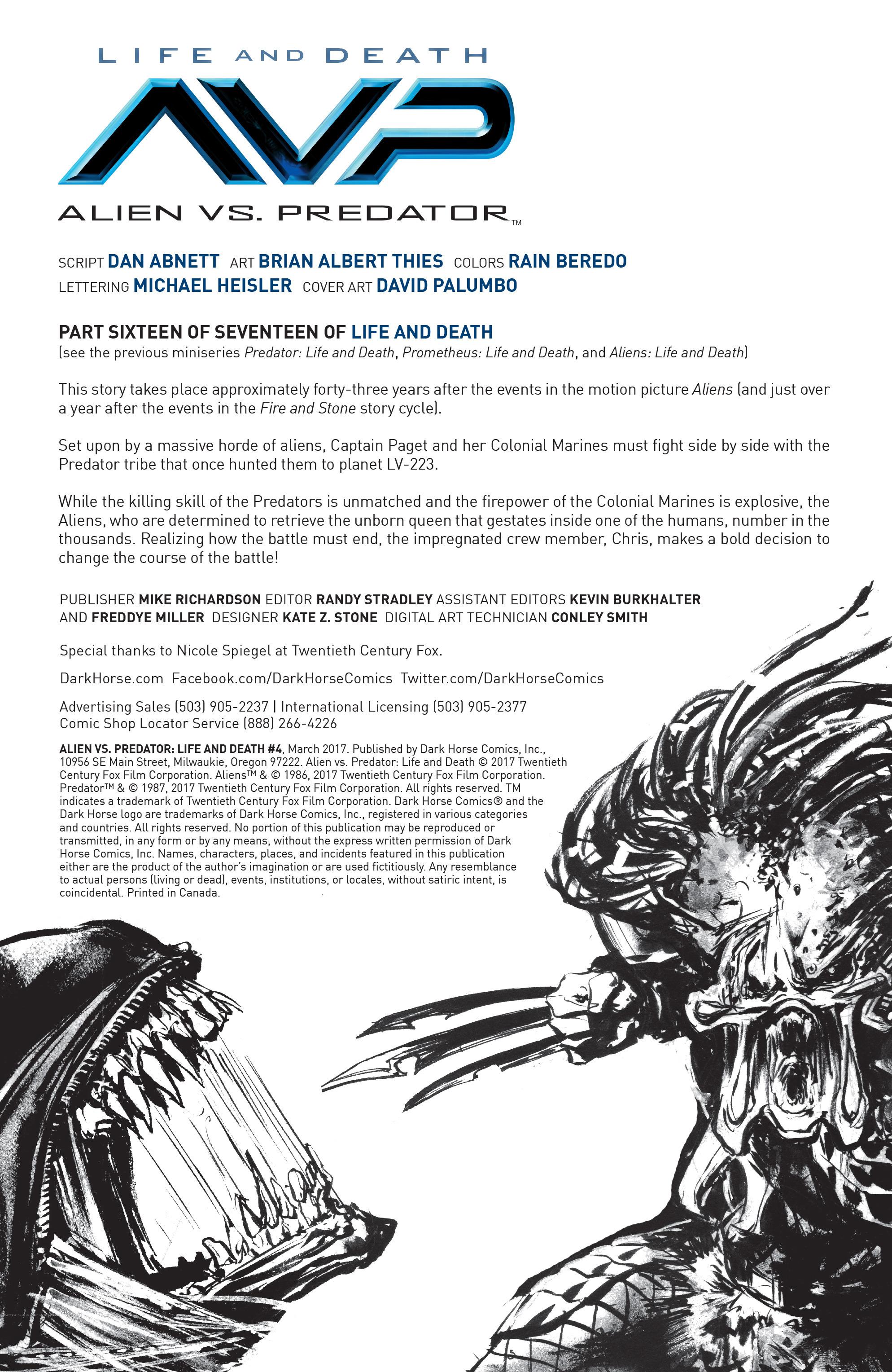 Read online Alien Vs. Predator: Life and Death comic -  Issue #4 - 2