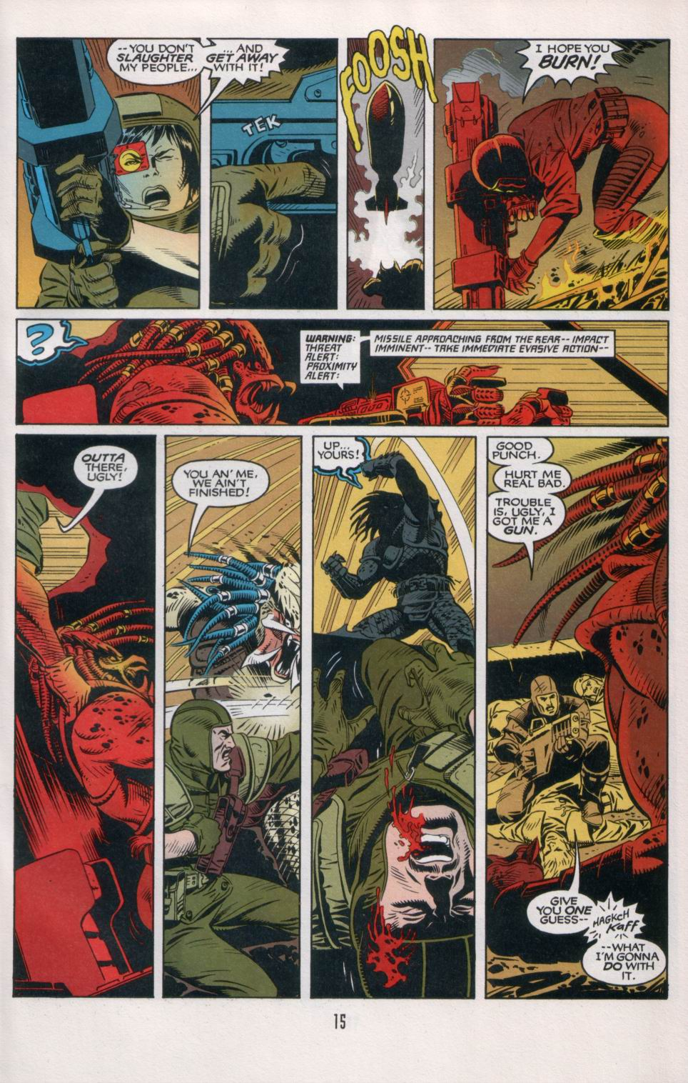 Read online Aliens/Predator: The Deadliest of the Species comic -  Issue #6 - 17