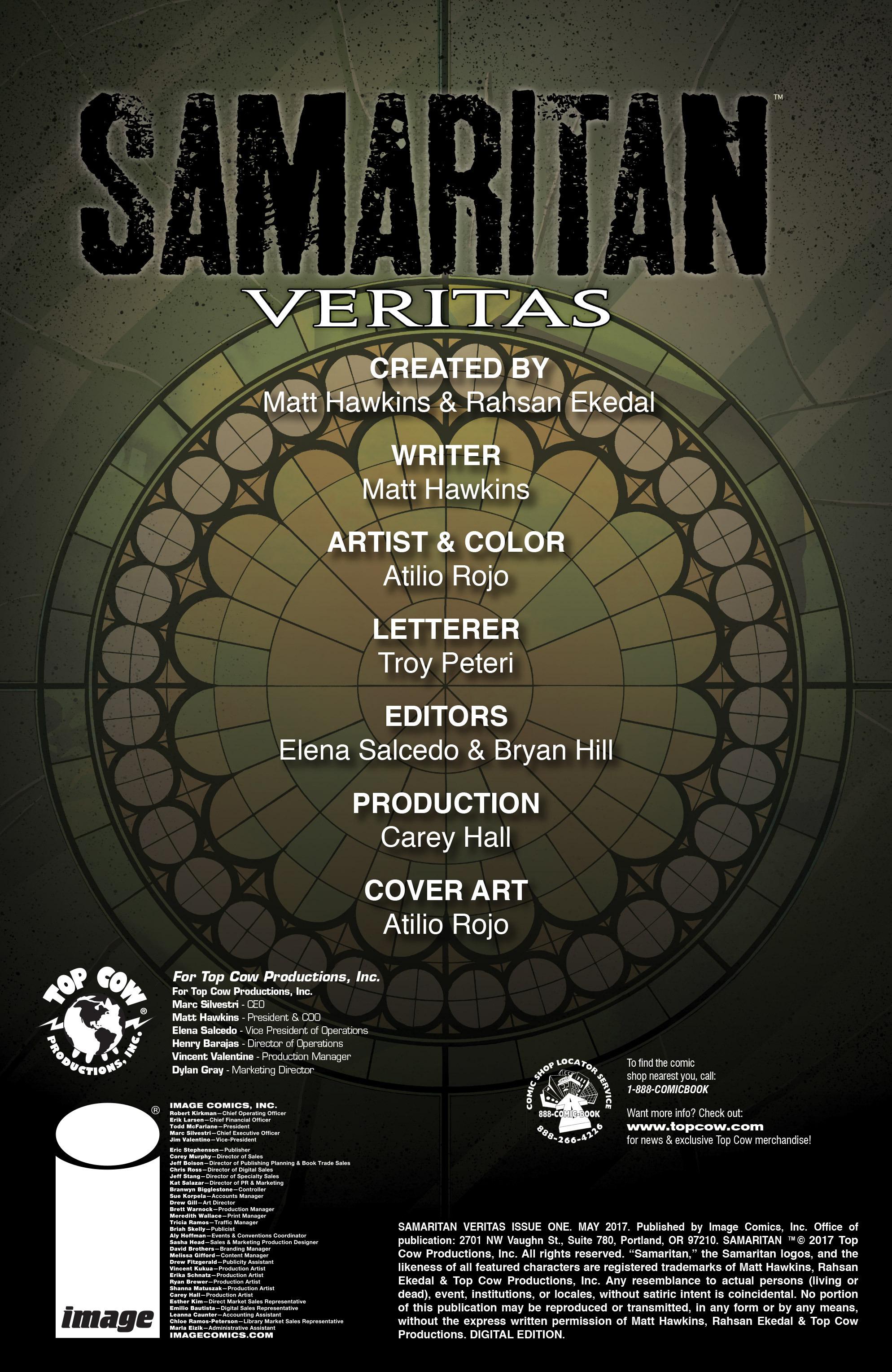 Read online Samaritan: Vertias comic -  Issue #1 - 2