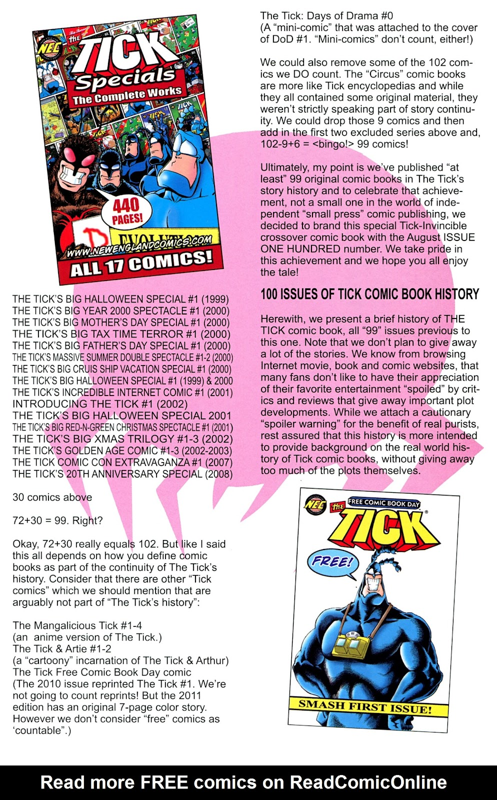 Read online The Tick comic -  Issue #100 - 29
