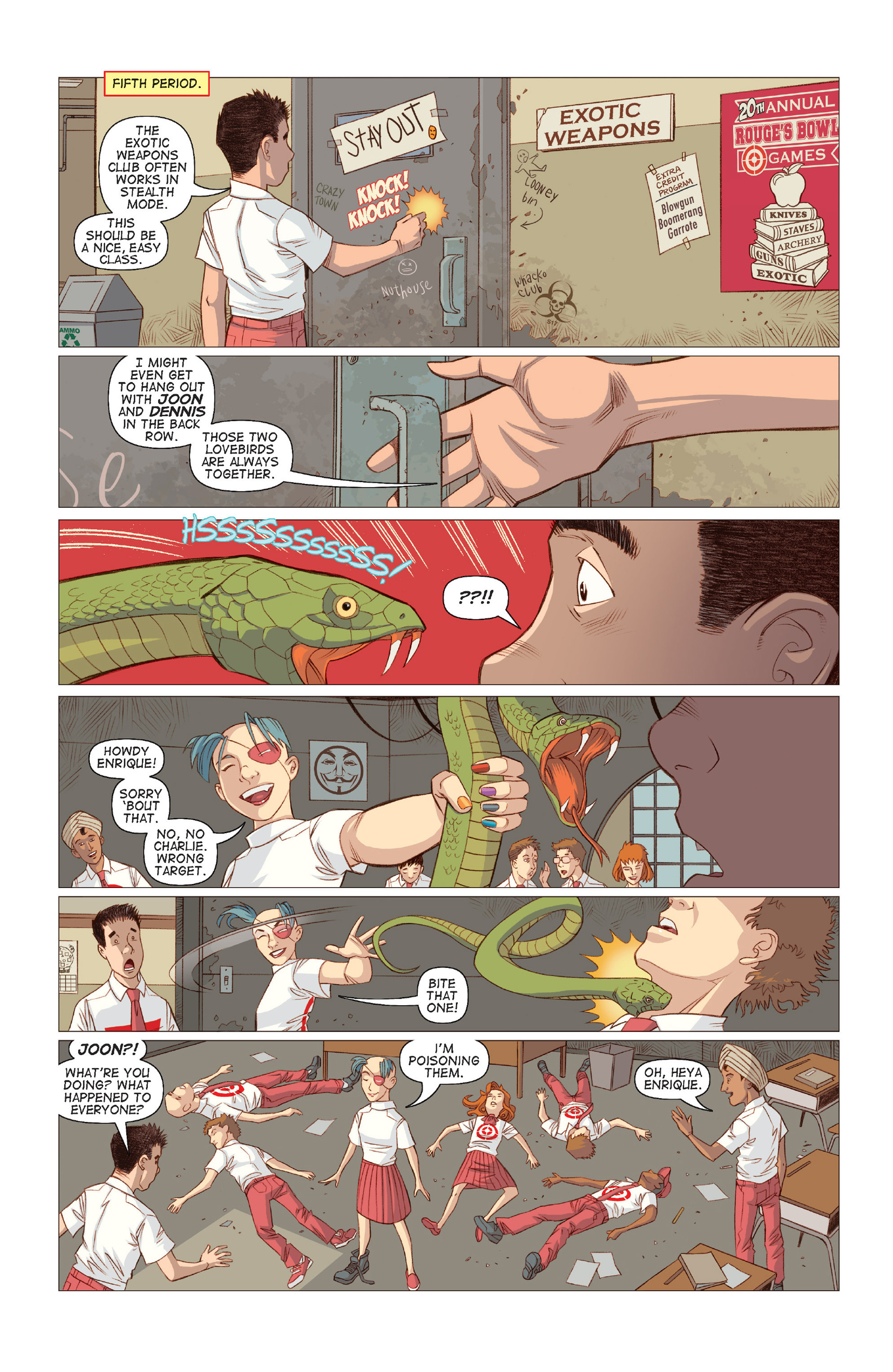 Read online Five Weapons comic -  Issue #8 - 19