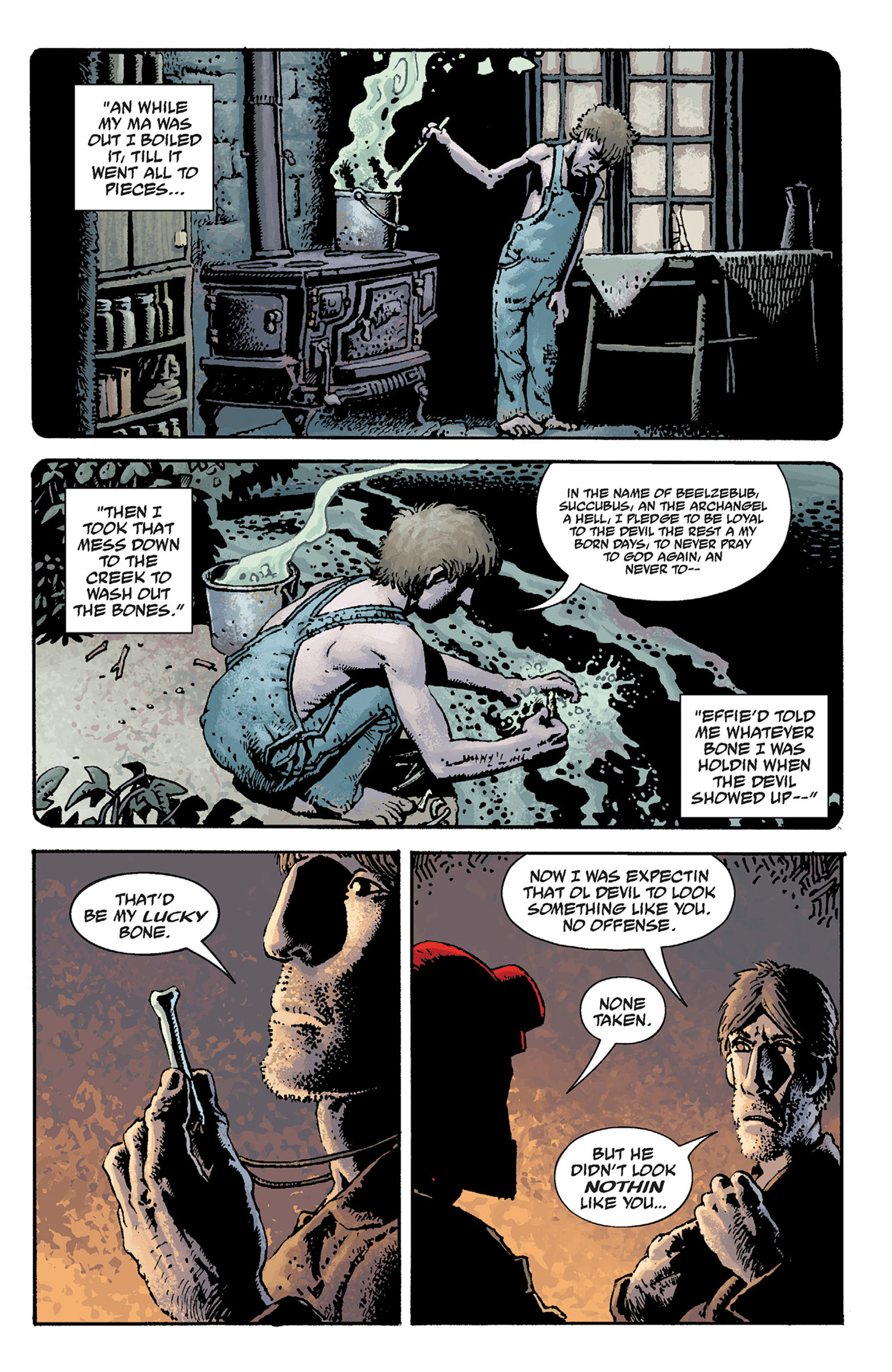 Read online Hellboy: The Crooked Man and Others comic -  Issue # TPB - 21