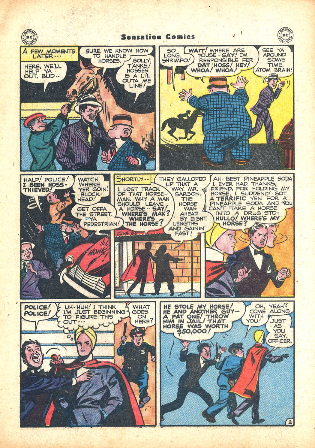 Read online Sensation (Mystery) Comics comic -  Issue #63 - 25