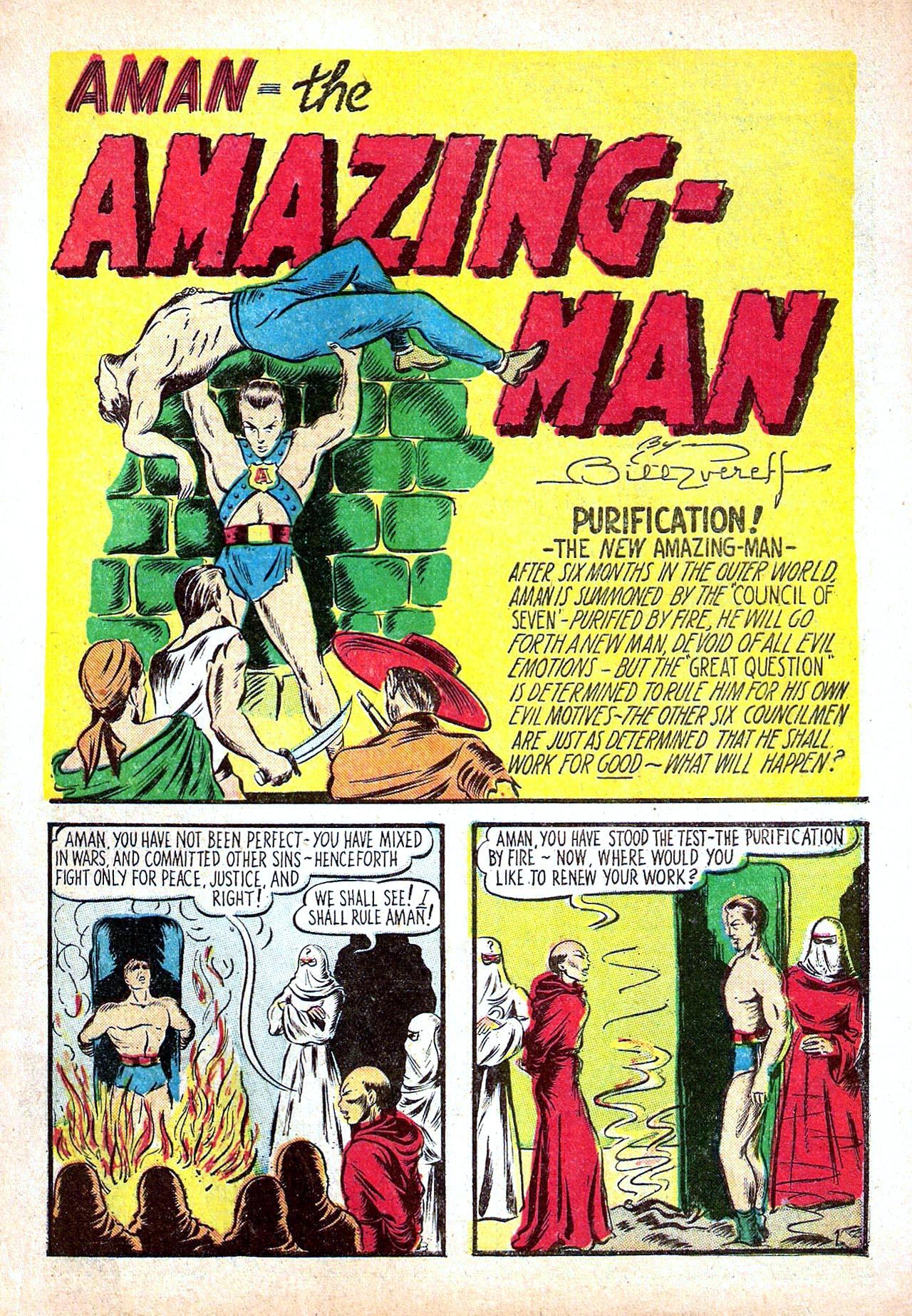 Read online Amazing Man Comics comic -  Issue #11 - 3