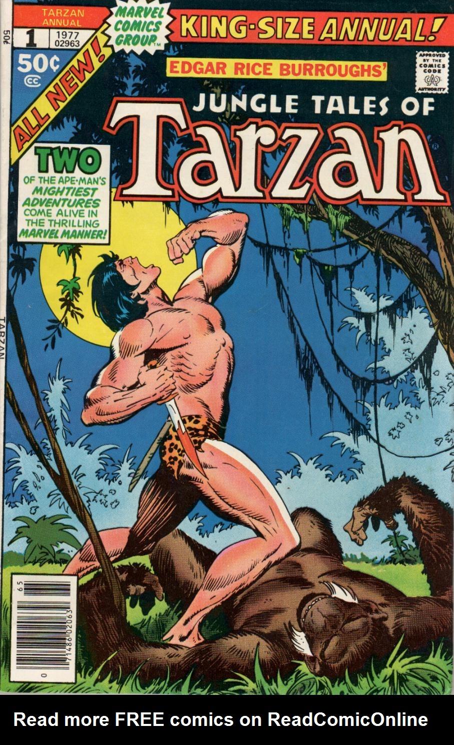 Tarzan (1977) issue Annual 1 - Page 1