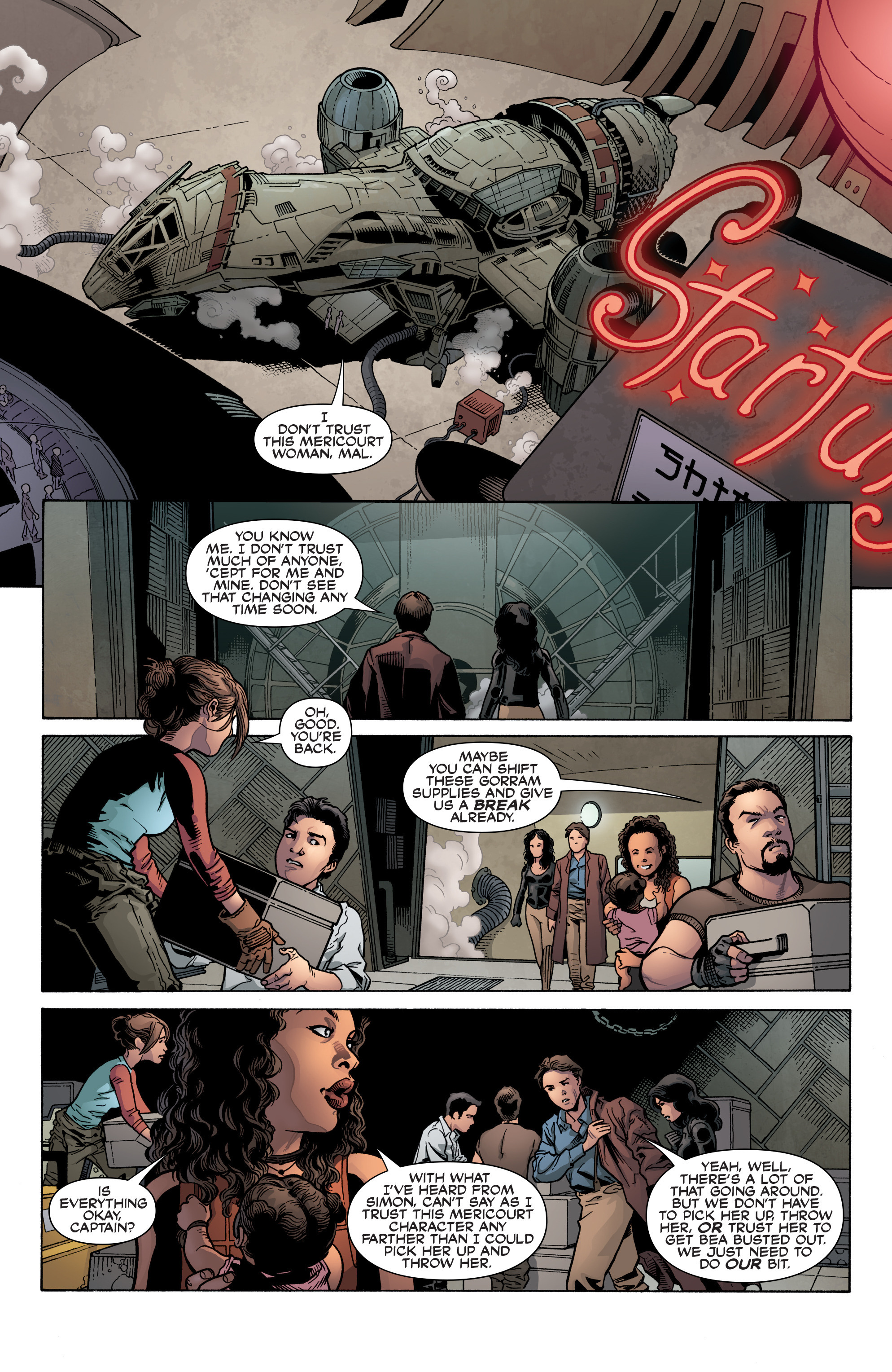 Read online Serenity: Firefly Class 03-K64 – No Power in the 'Verse comic -  Issue #3 - 9