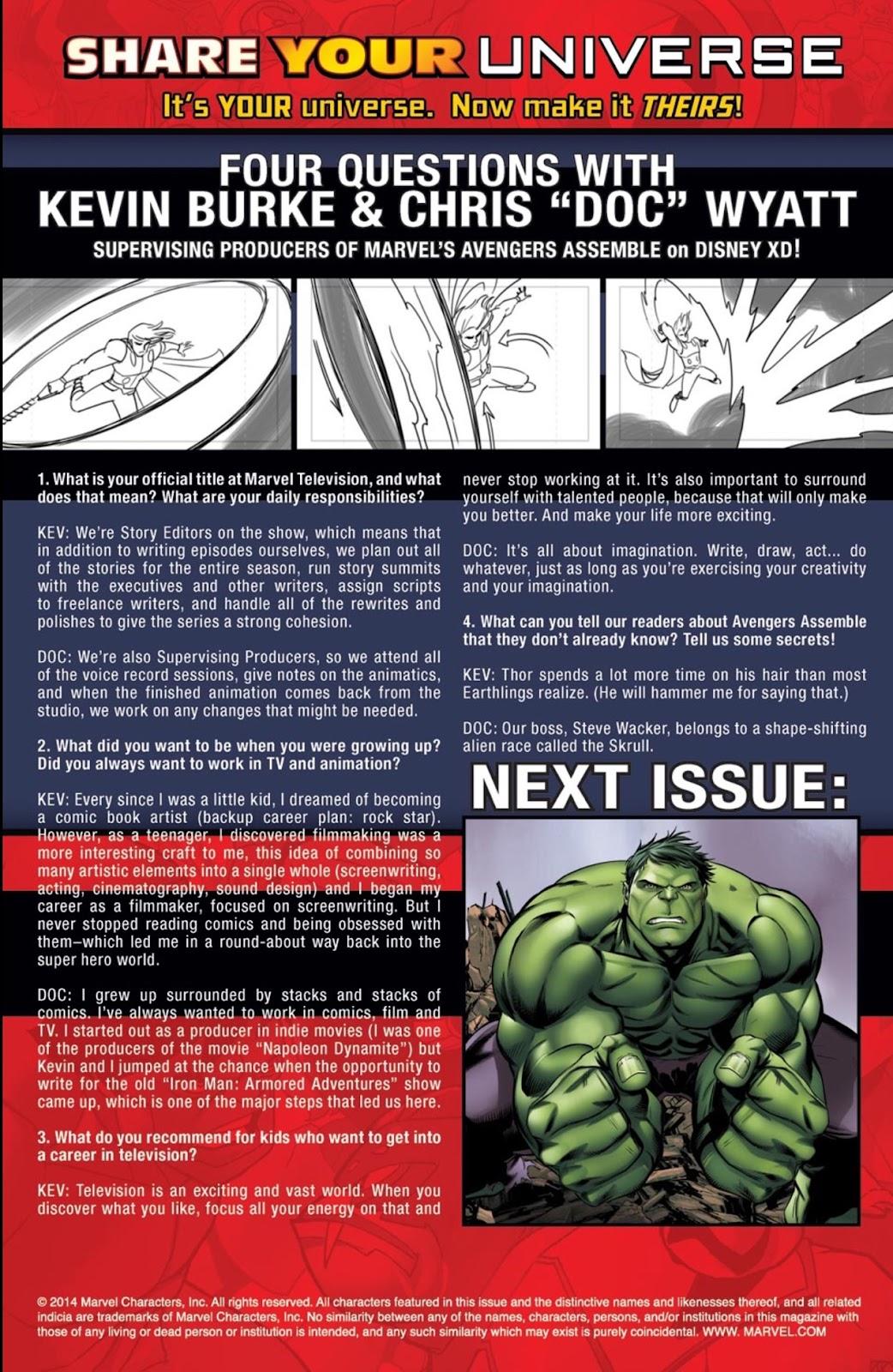 Read online Marvel Universe Avengers Assemble Season 2 comic -  Issue #2 - 23