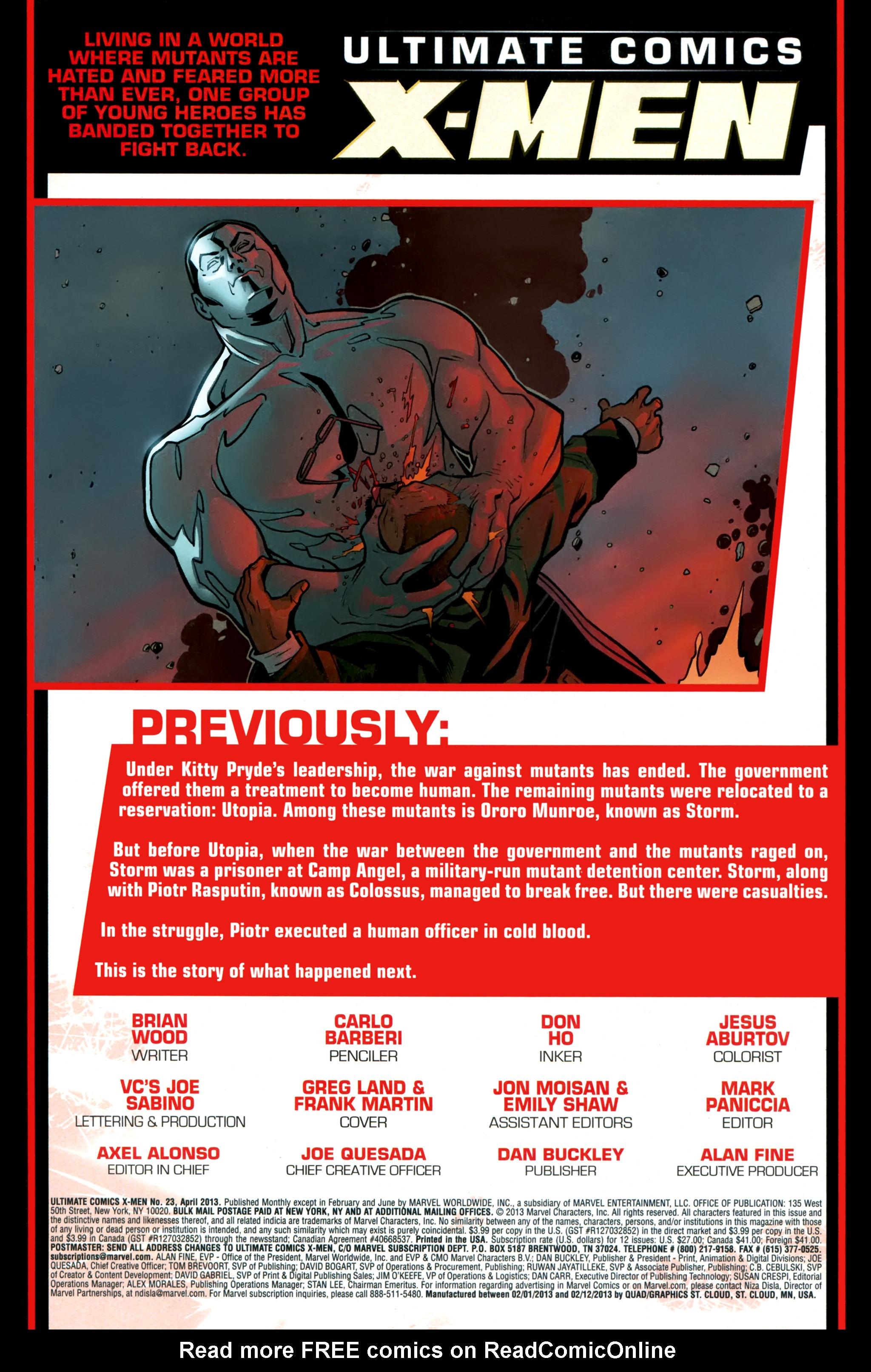 Read online Ultimate Comics X-Men comic -  Issue #23 - 2