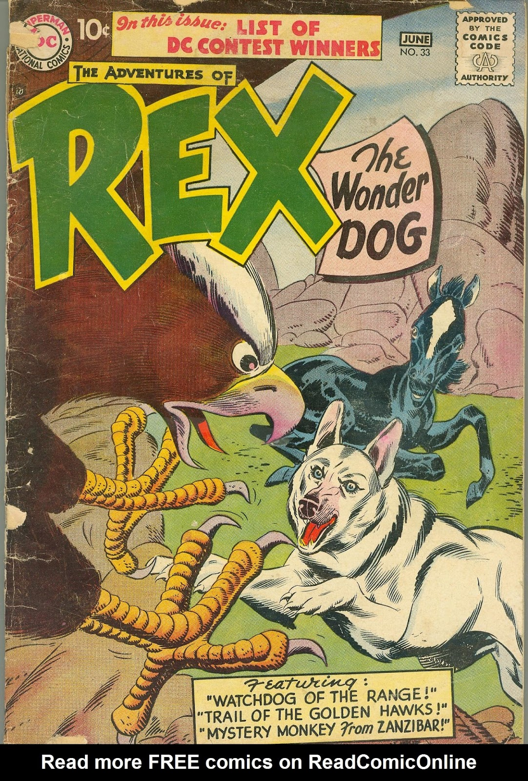 The Adventures of Rex the Wonder Dog issue 33 - Page 1