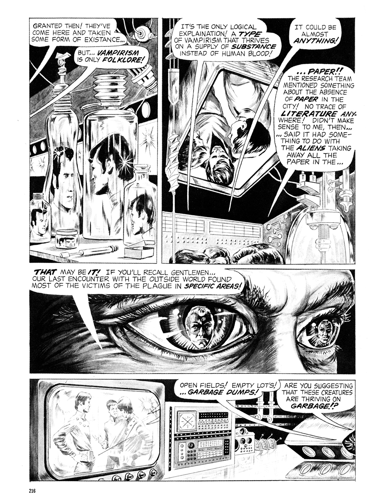 Read online Eerie Archives comic -  Issue # TPB 6 - 216