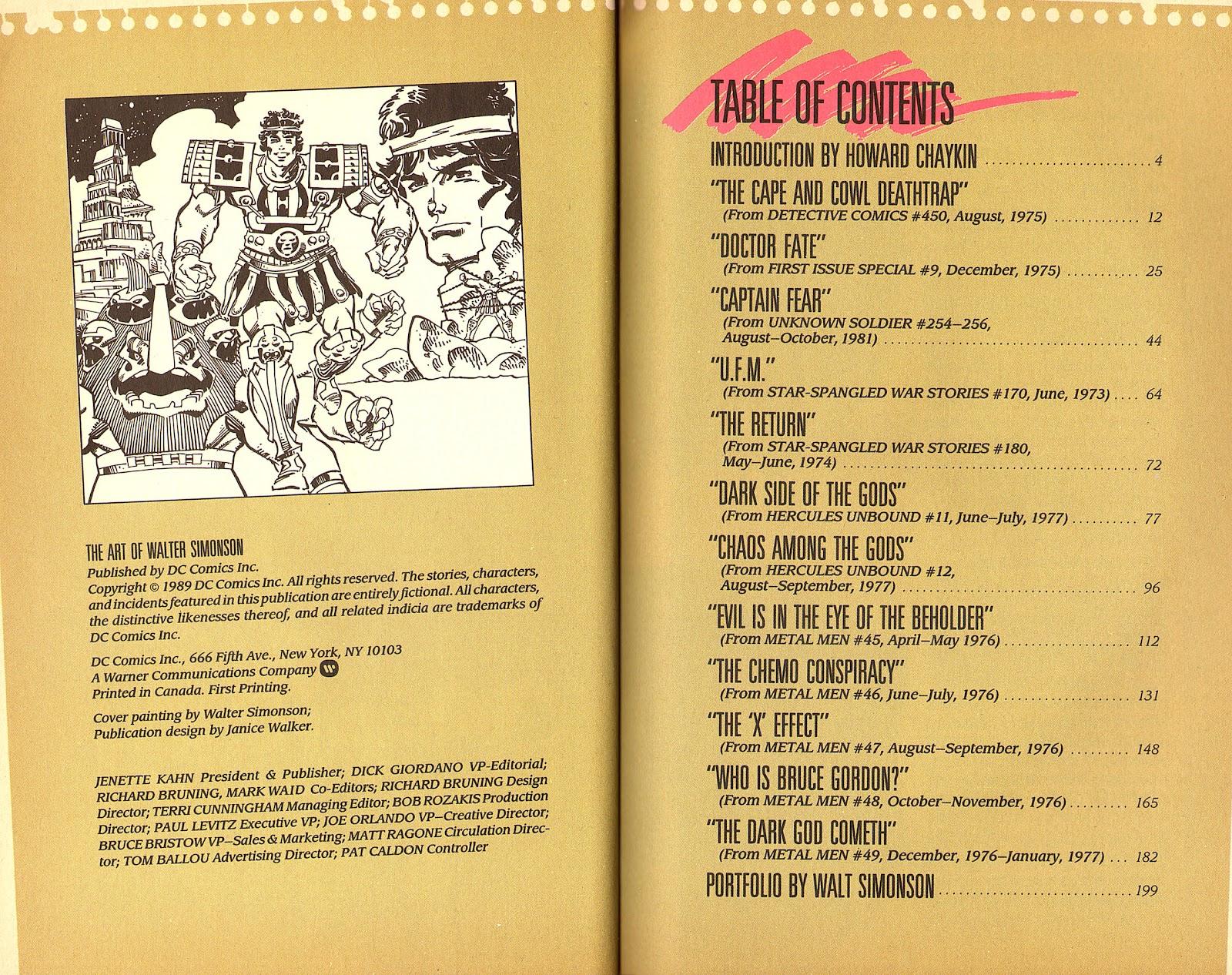 Read online The Art of Walter Simonson comic -  Issue # TPB - 3