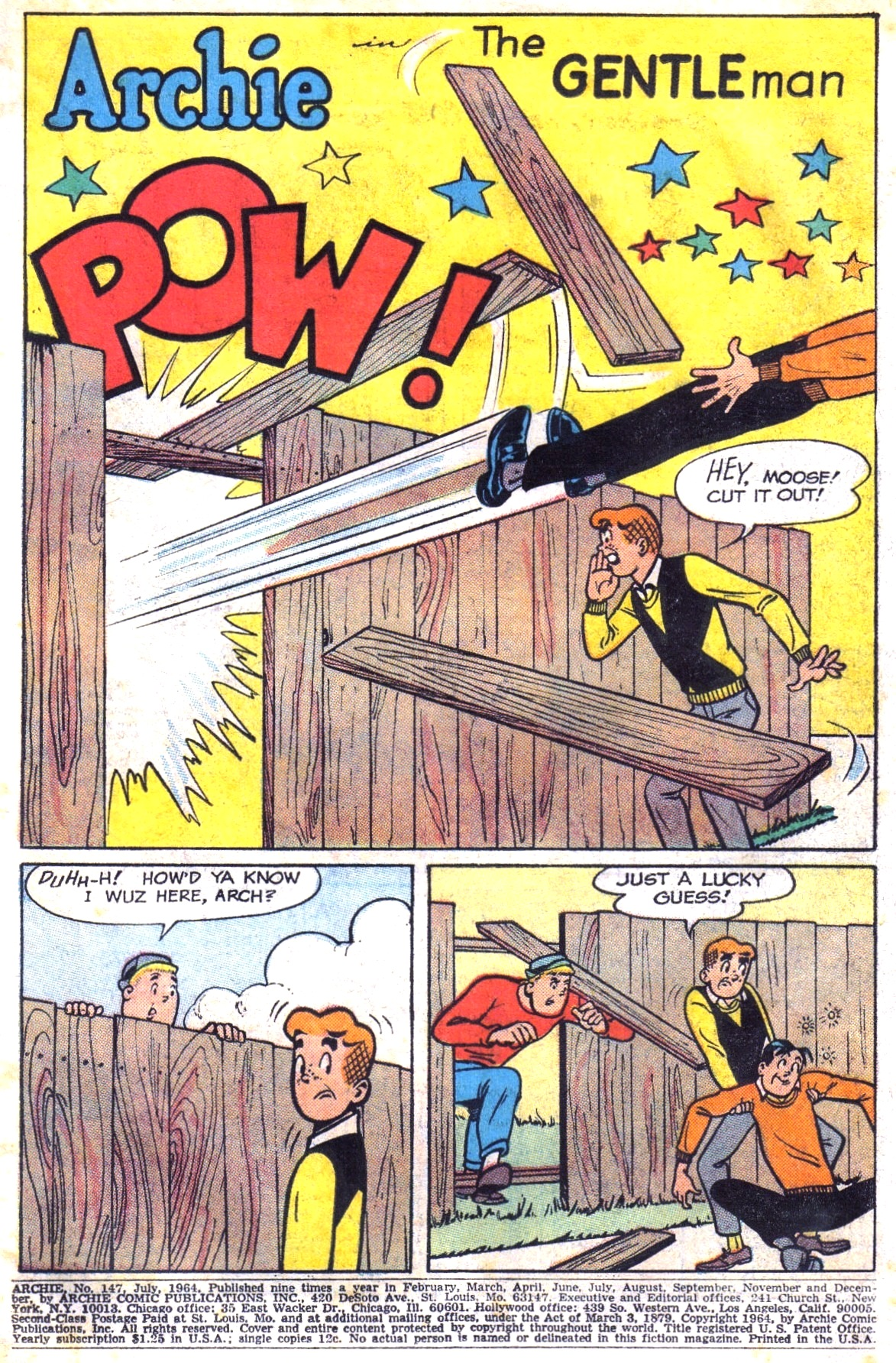 Read online Archie (1960) comic -  Issue #147 - 3