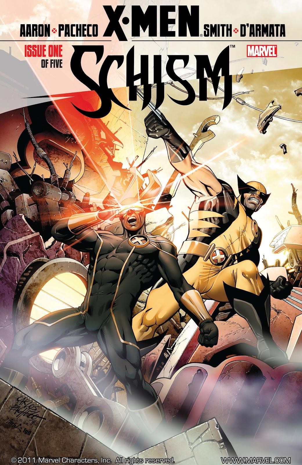 X-Men: Schism issue 1 - Page 1